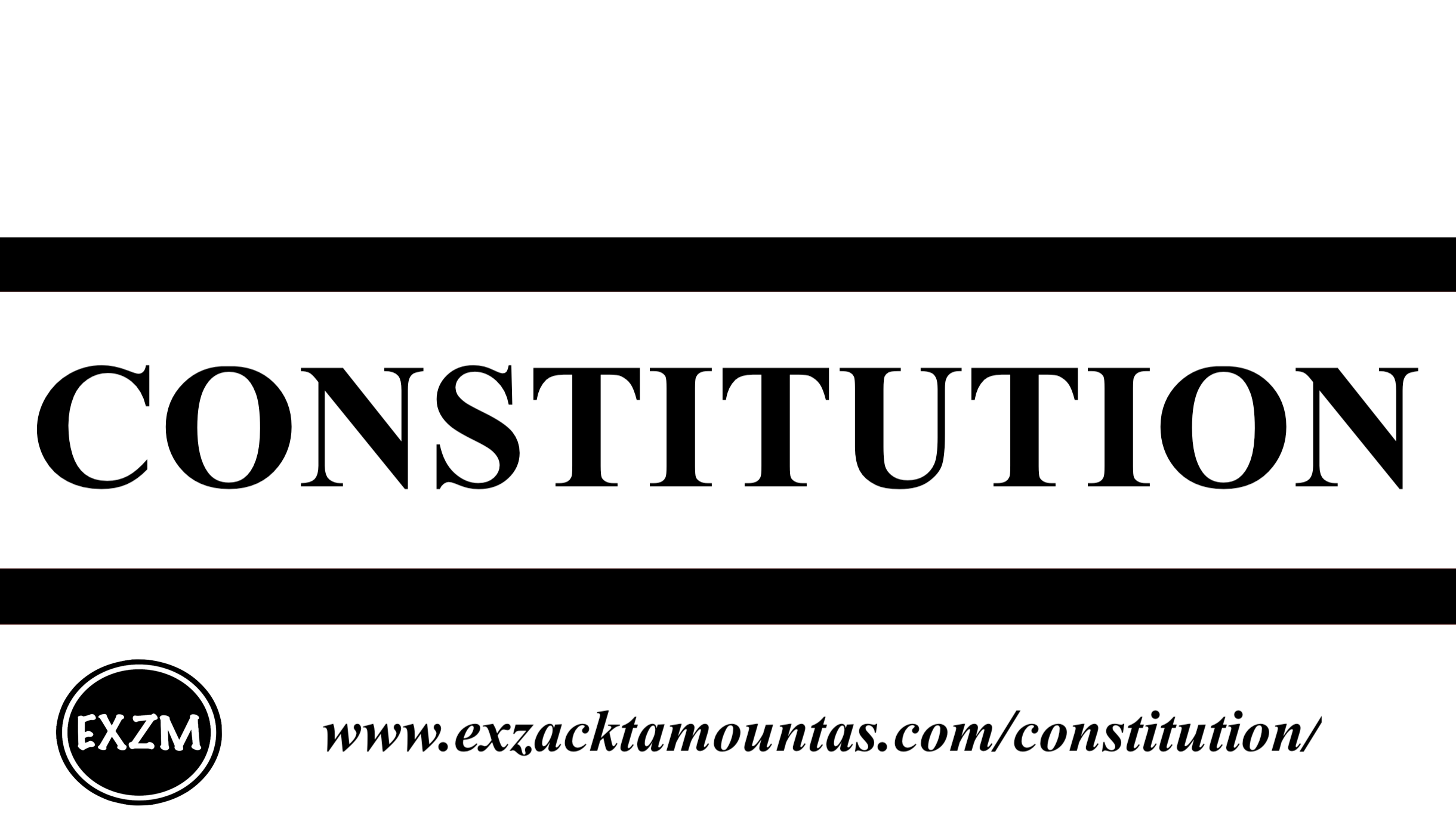 CONSTITUTION EXZM 9 30 2019