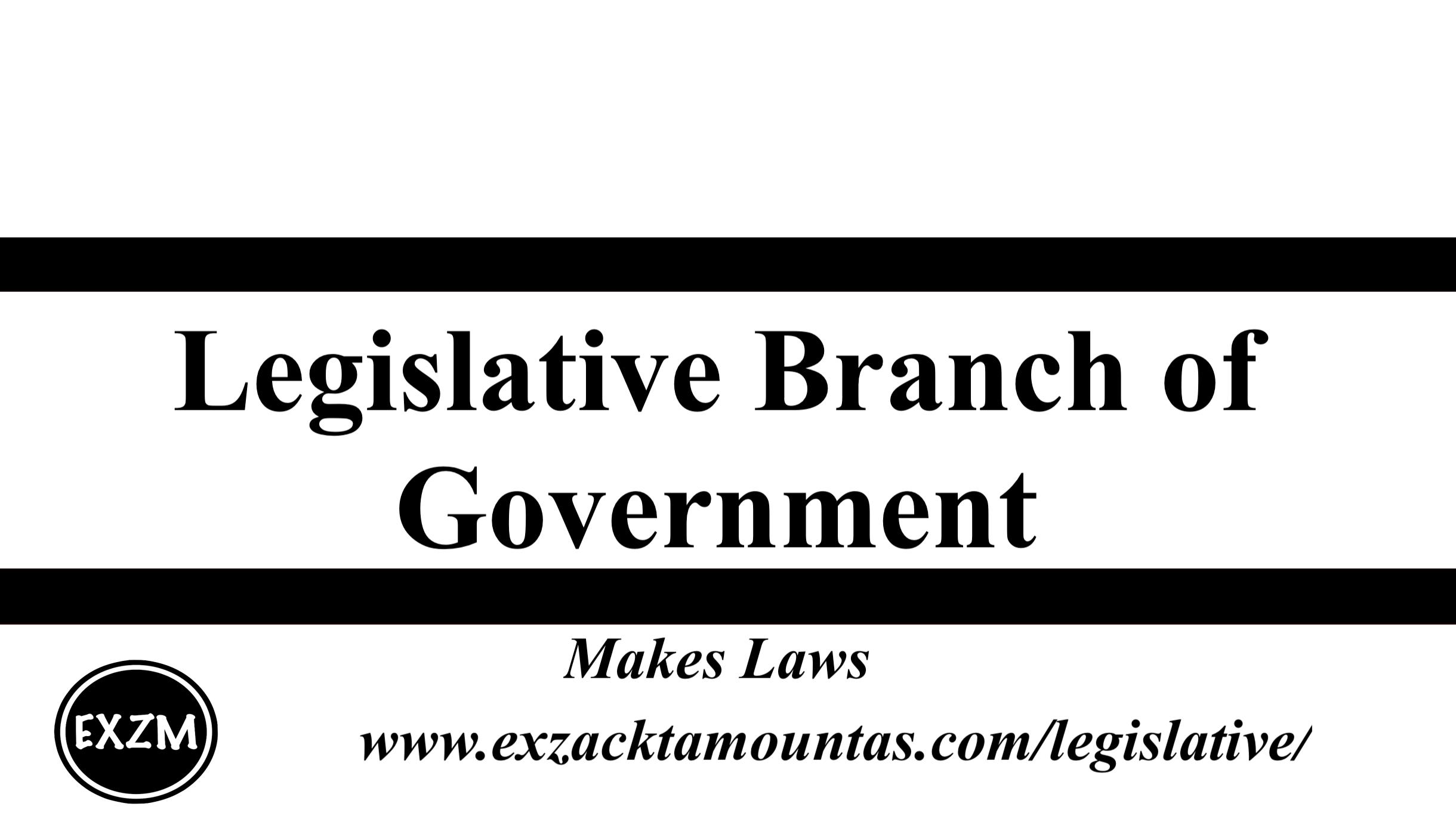 Legislative Branch of Gov EXZM 9 30 2019