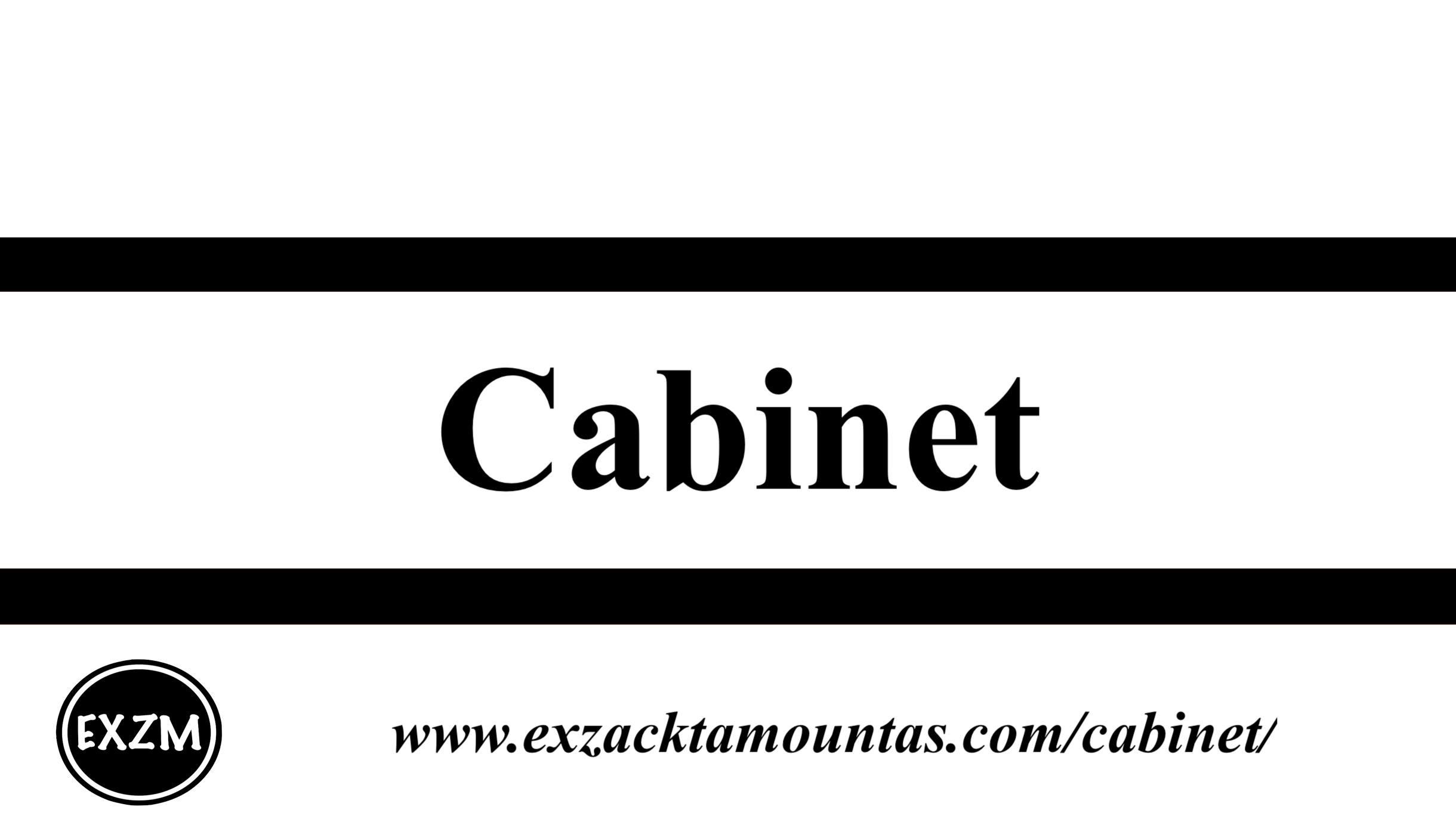 Cabinet EXZM 10 1 2019