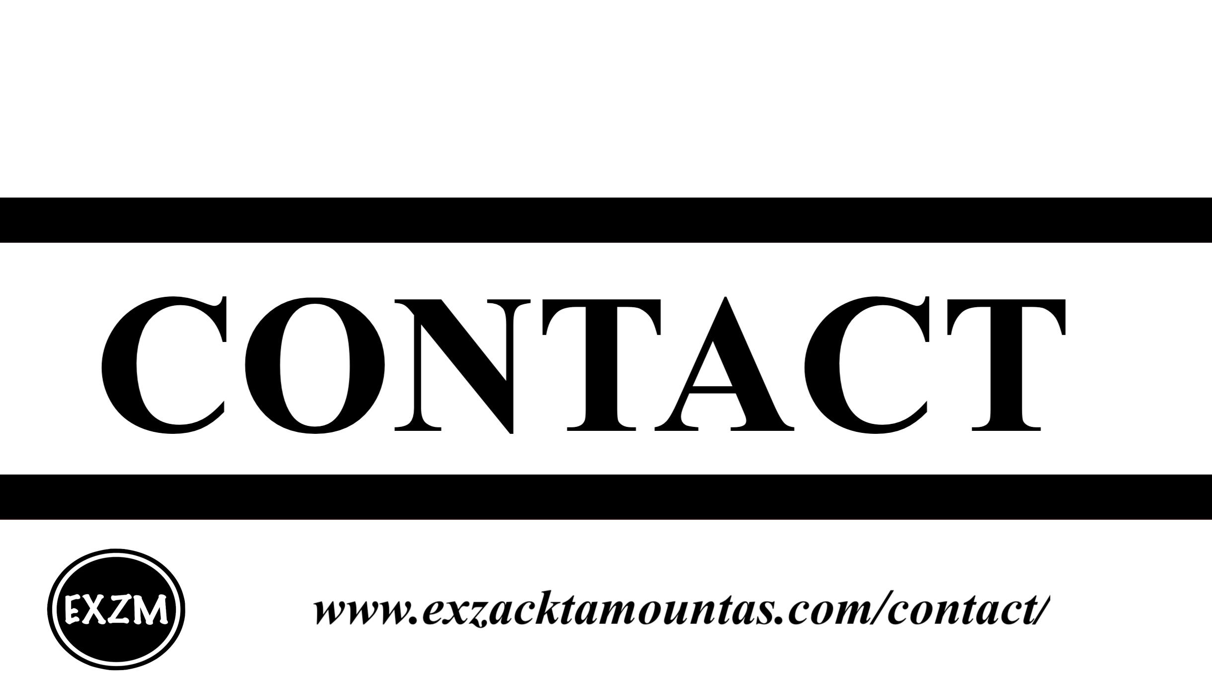Contact EXZM 10 8 2019