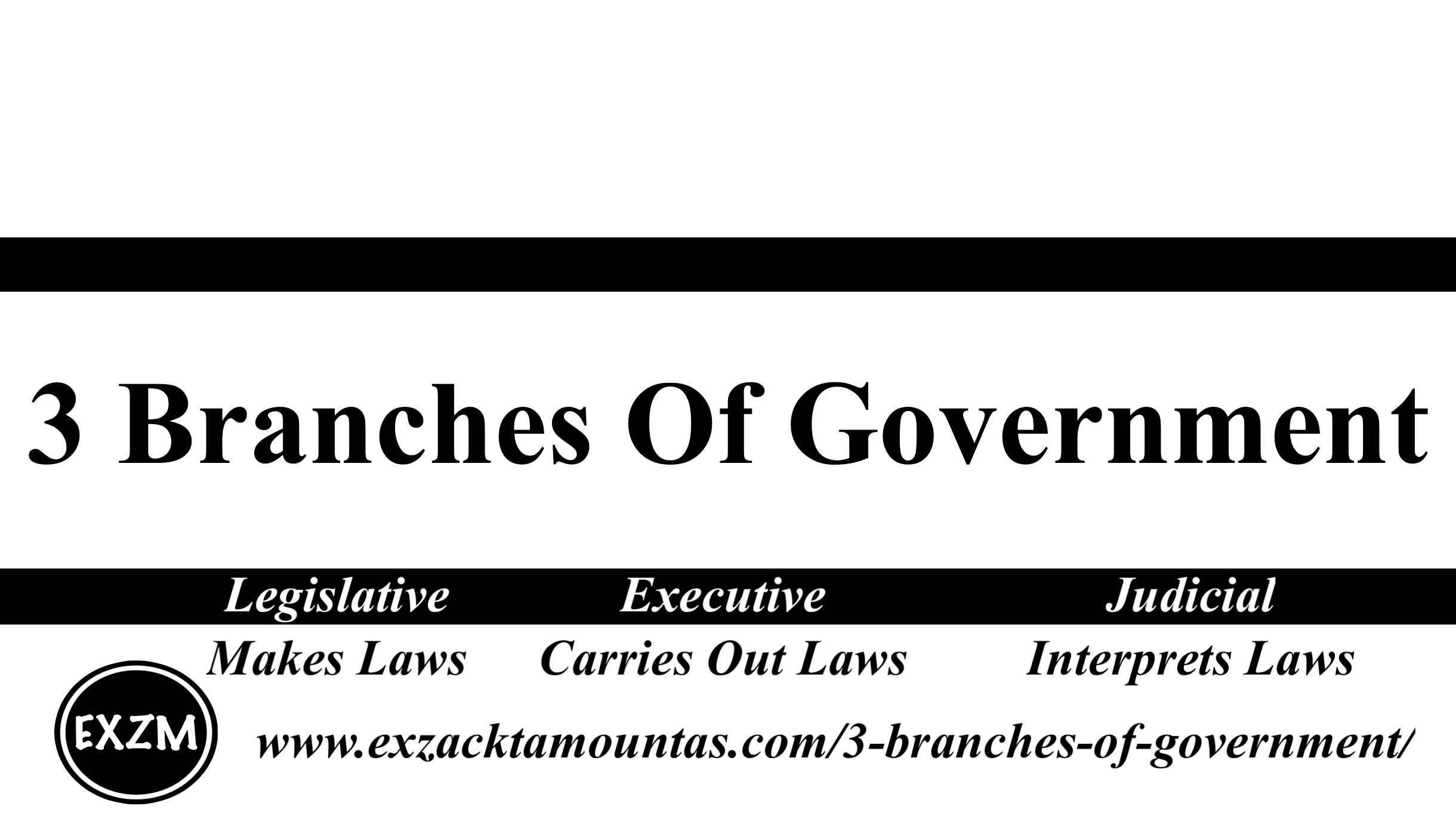 3 Branches Of Government EXZM 11 5 2019