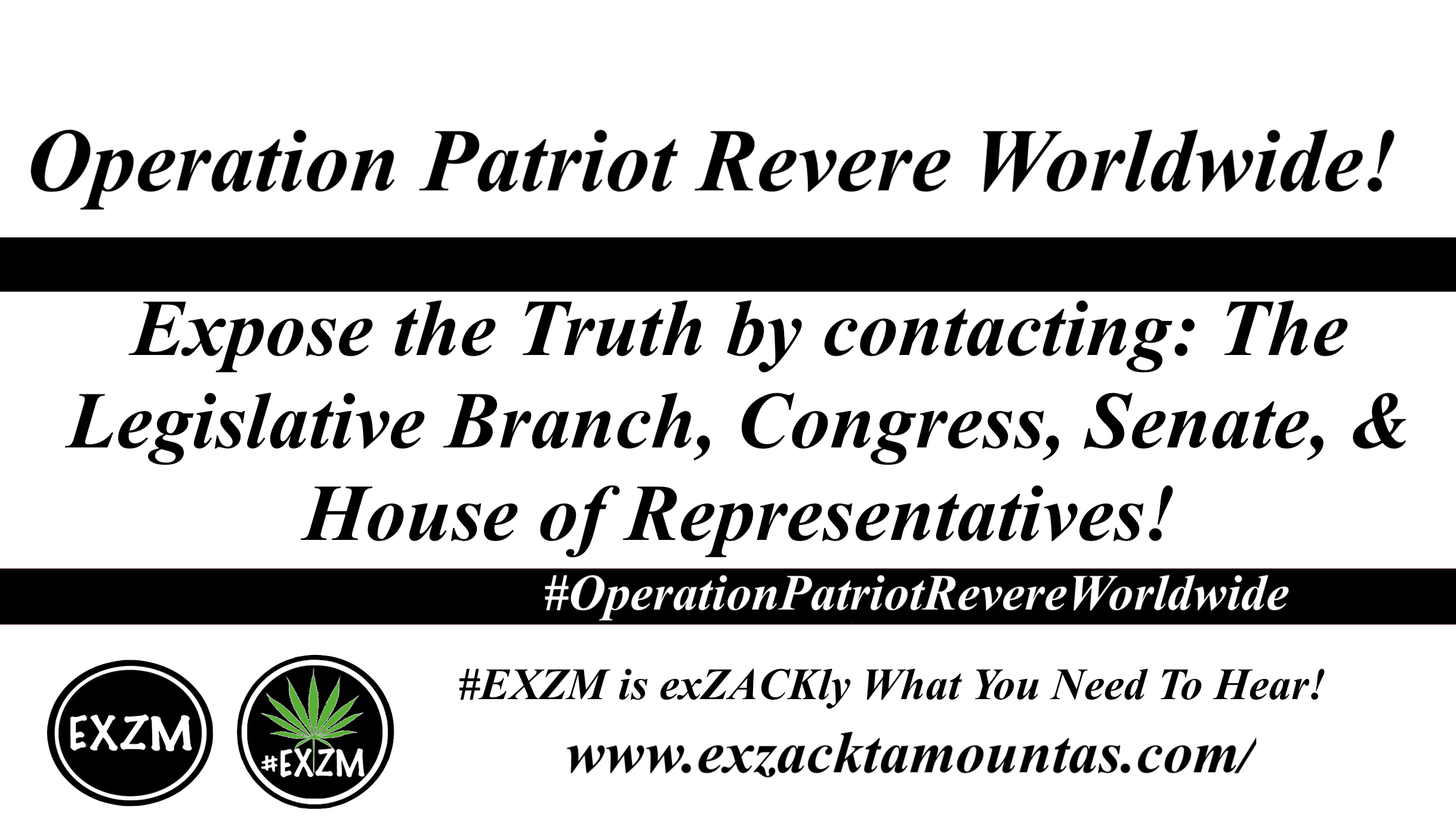 EXZM Operation Patriot Revere Worldwide 11 1 2019
