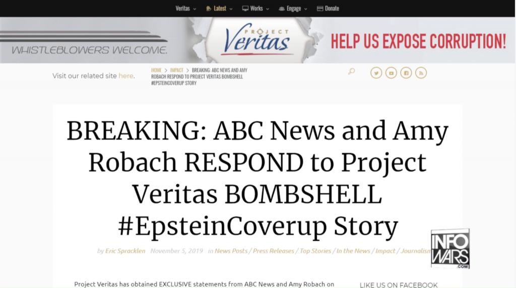Project Veritas ABC News 11 5 2019 1