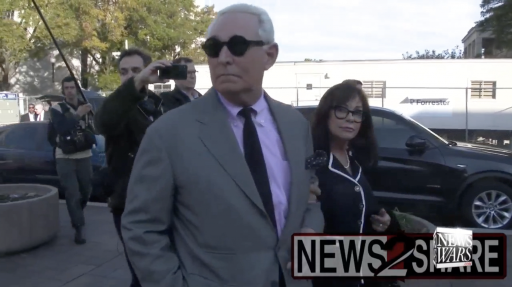 Roger Stone and wife 11 8 2019 1