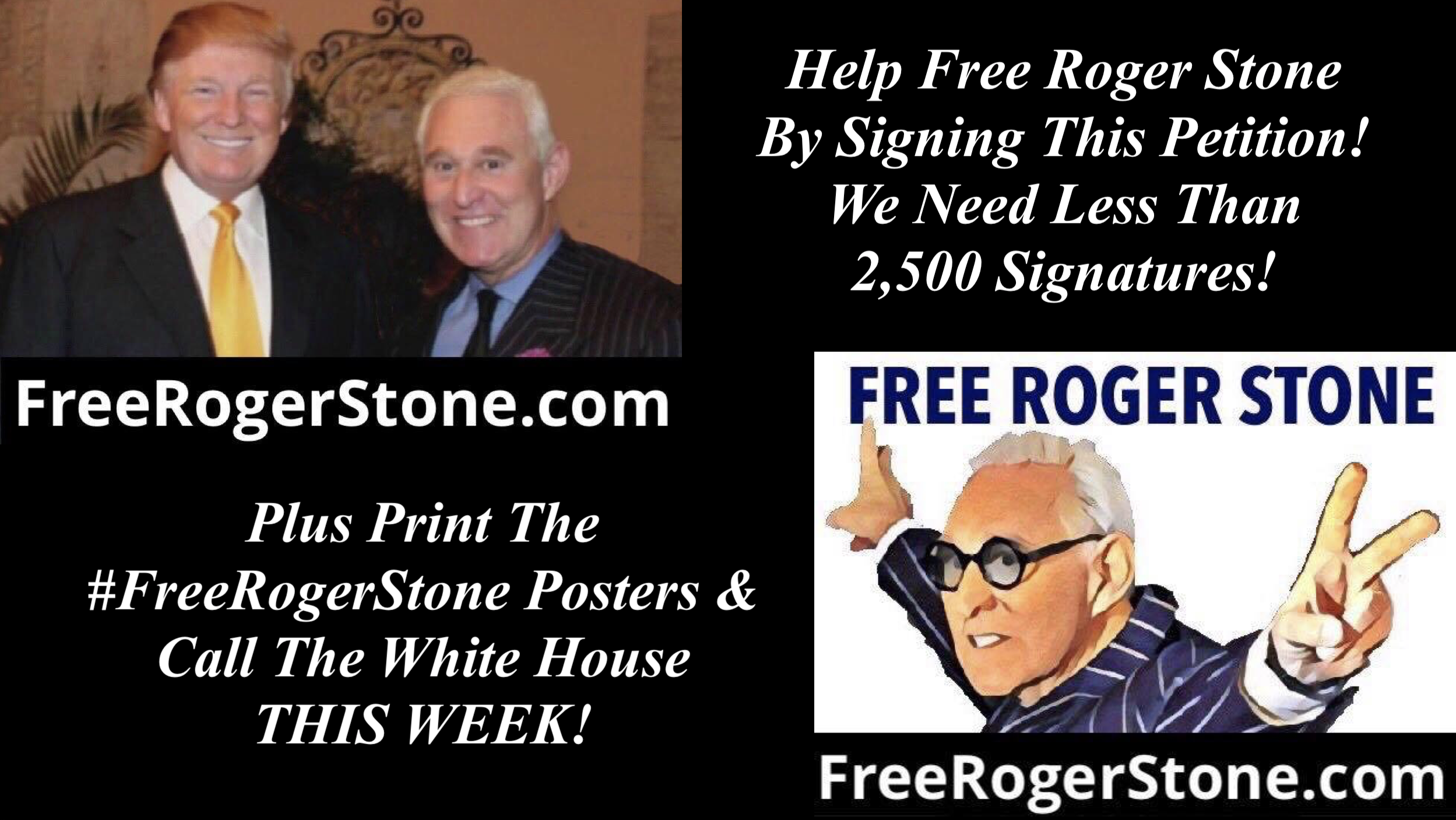 Sign Petition and Free Roger Stone 12 30 2019
