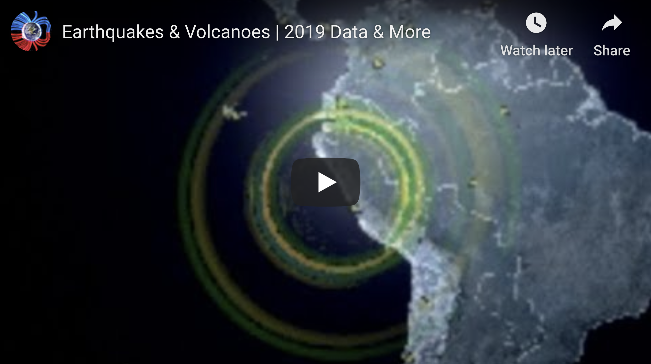 Earthquakes & Volcanoes 2019 Data & More 1 17 2020