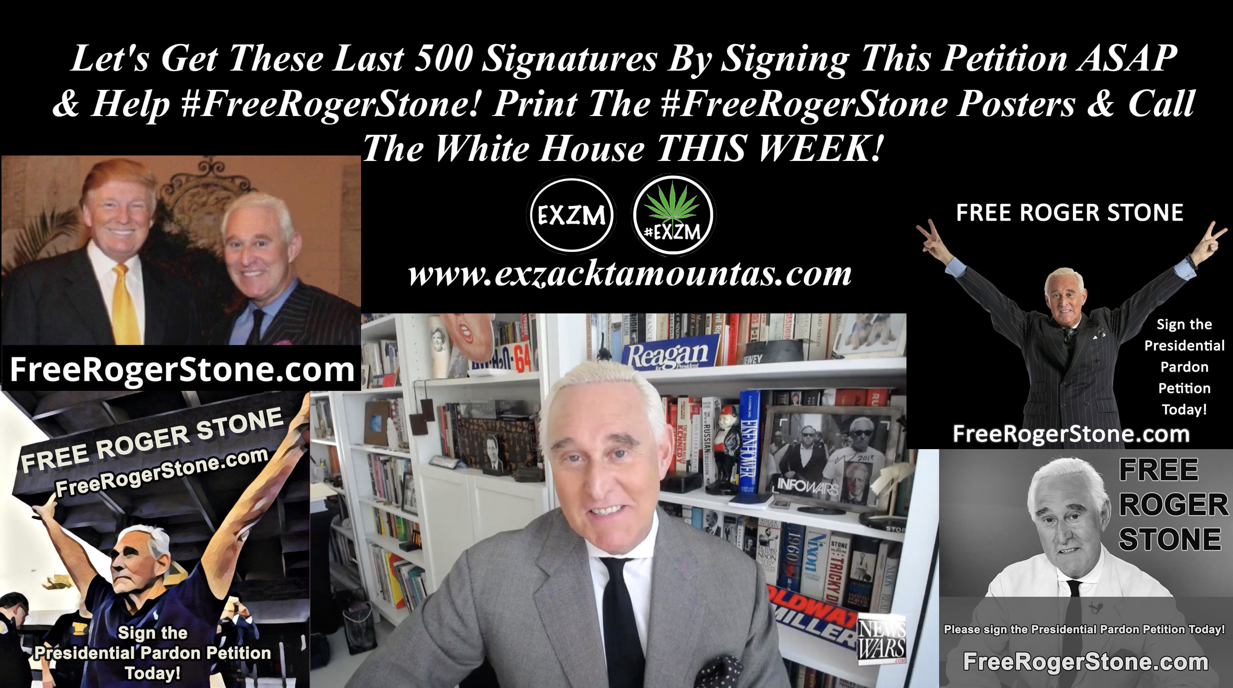 Free Roger Stone Sign Peition 1 26 2020