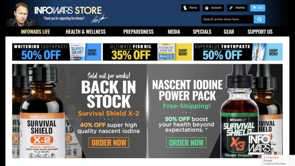 InfoWars Store 1 21 2020