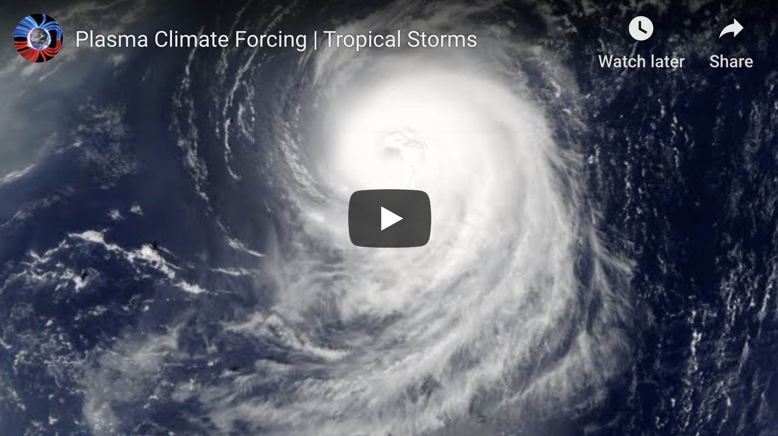 Plasma Climate Forcing Tropical Storms 1 15 2020