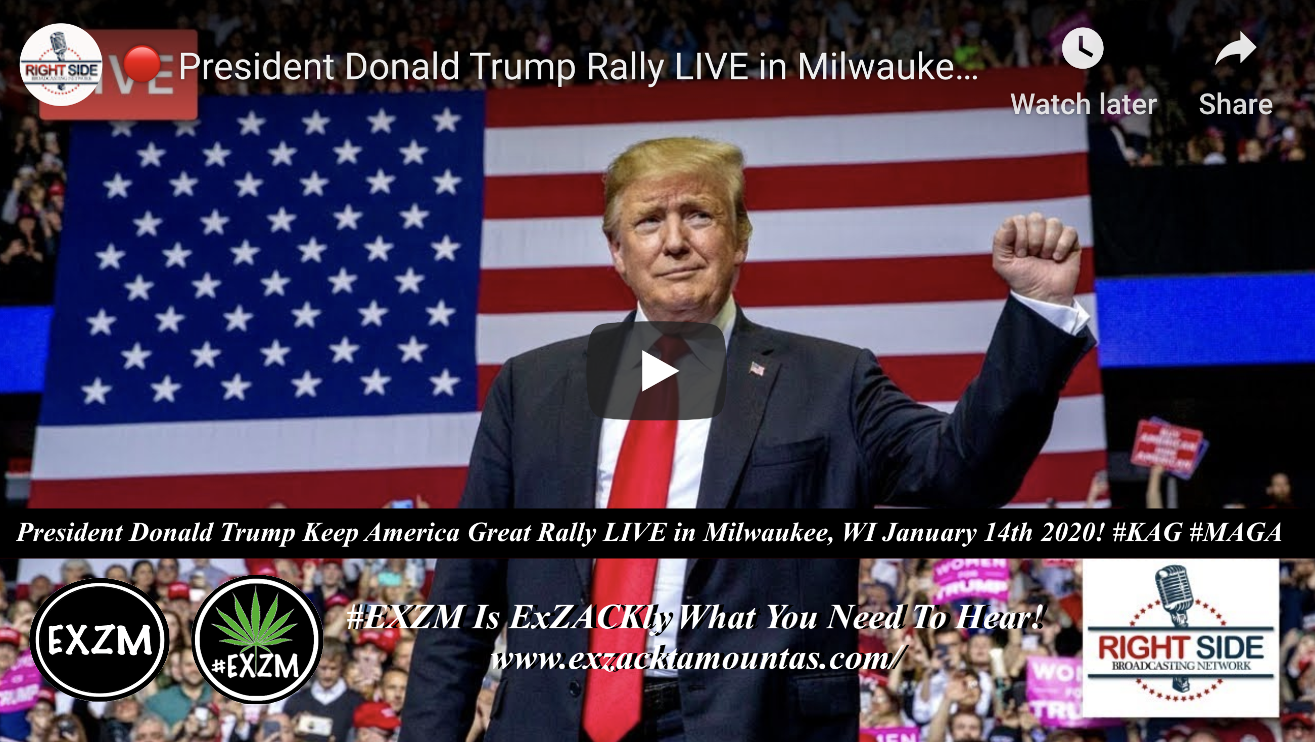 President Trump Rally Milwaukee WI 1 14 2020