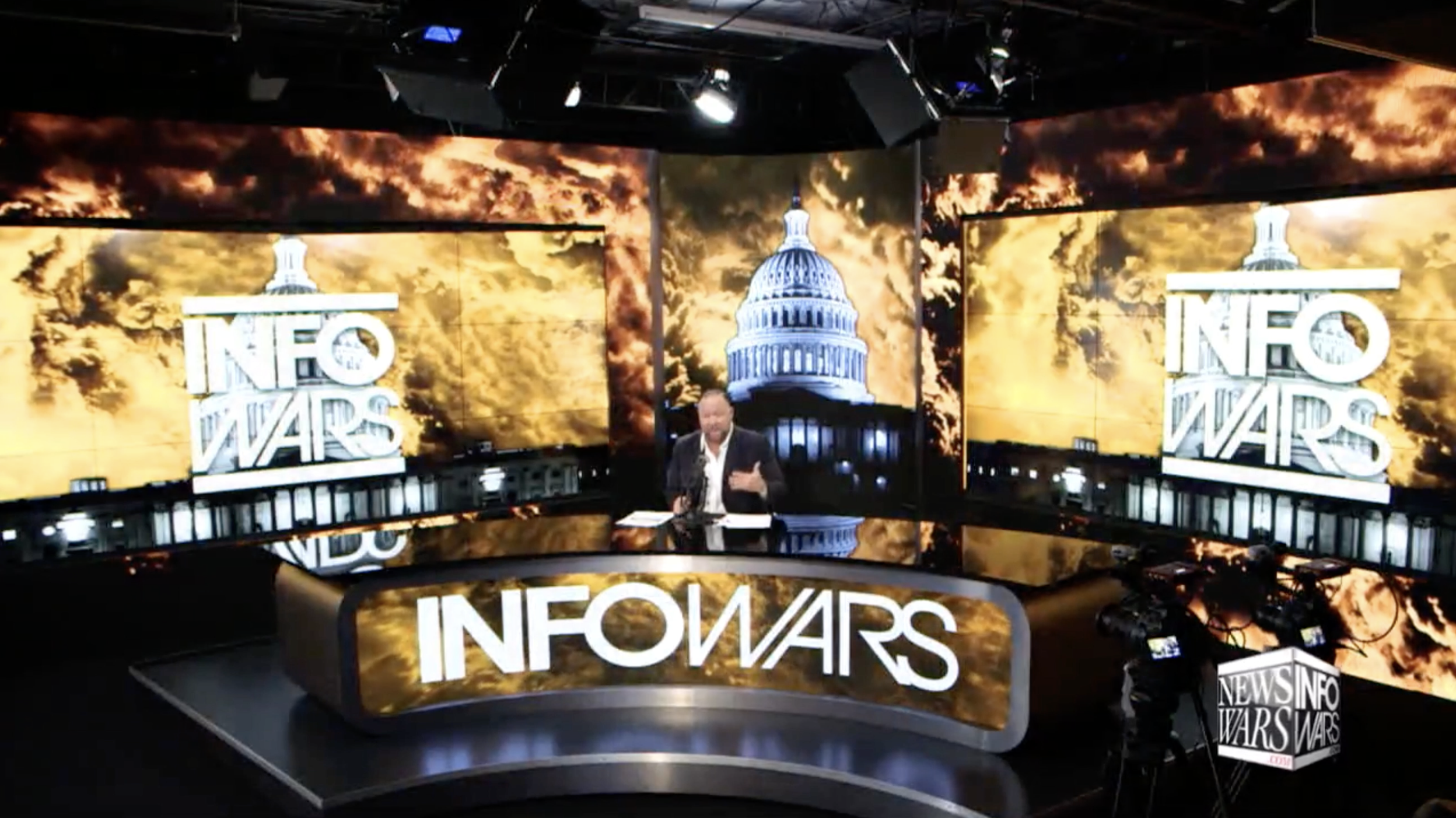Alex Jones Infowars StudioFire 2 19 2020