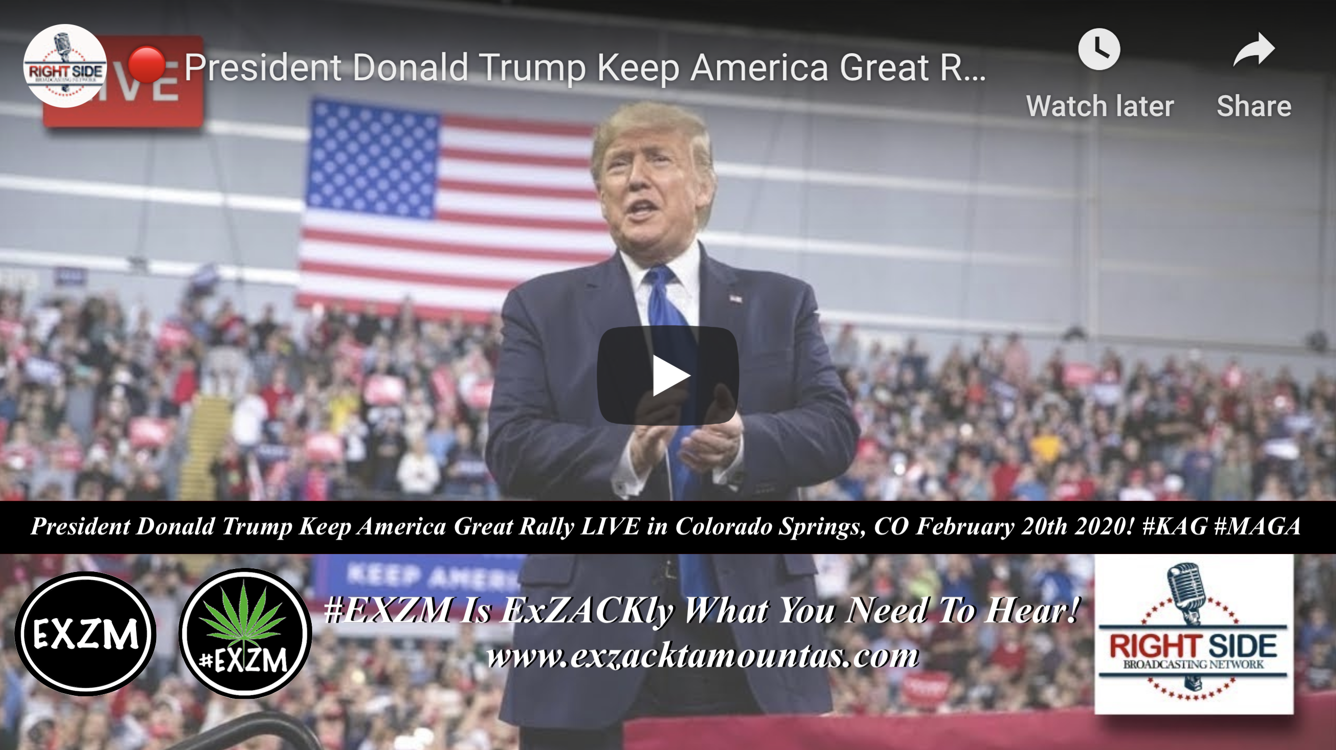 Donald Trump KAG MAGA Colorado Springs, CO 2 20 2020