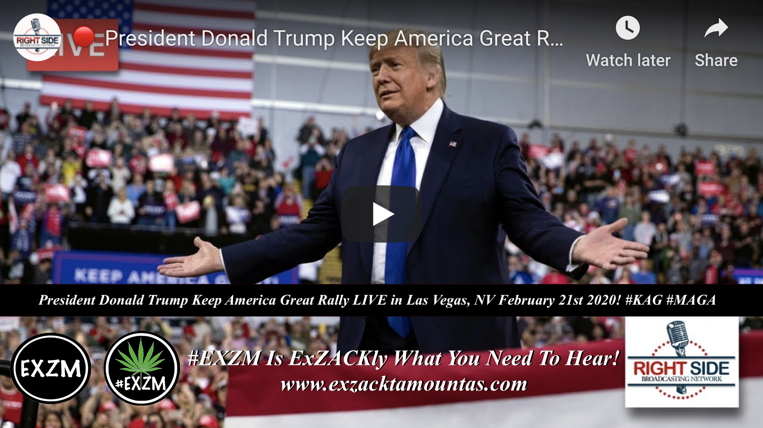 Donald Trump KAG MAGA Las Vegas, NV 2 21 2020
