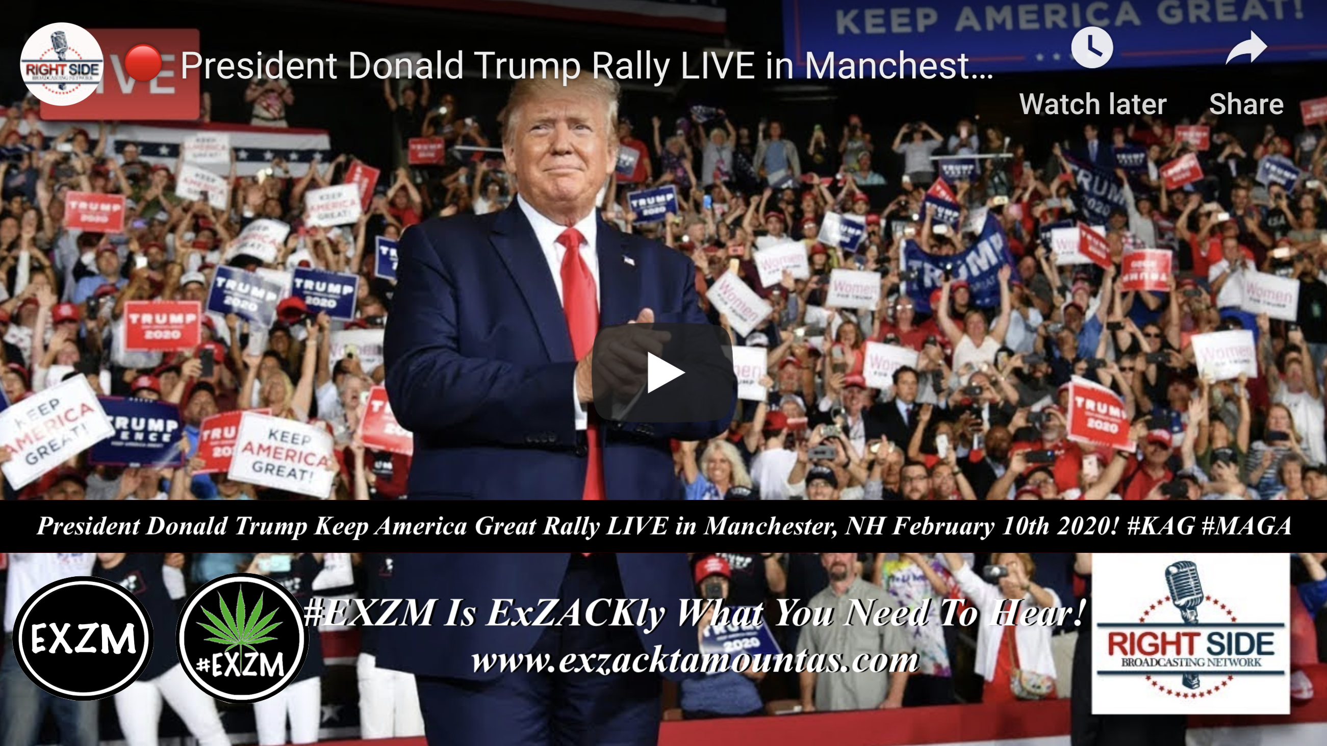 Donald Trump KAG MAGA Manchester New Hampshire 2 10 2020