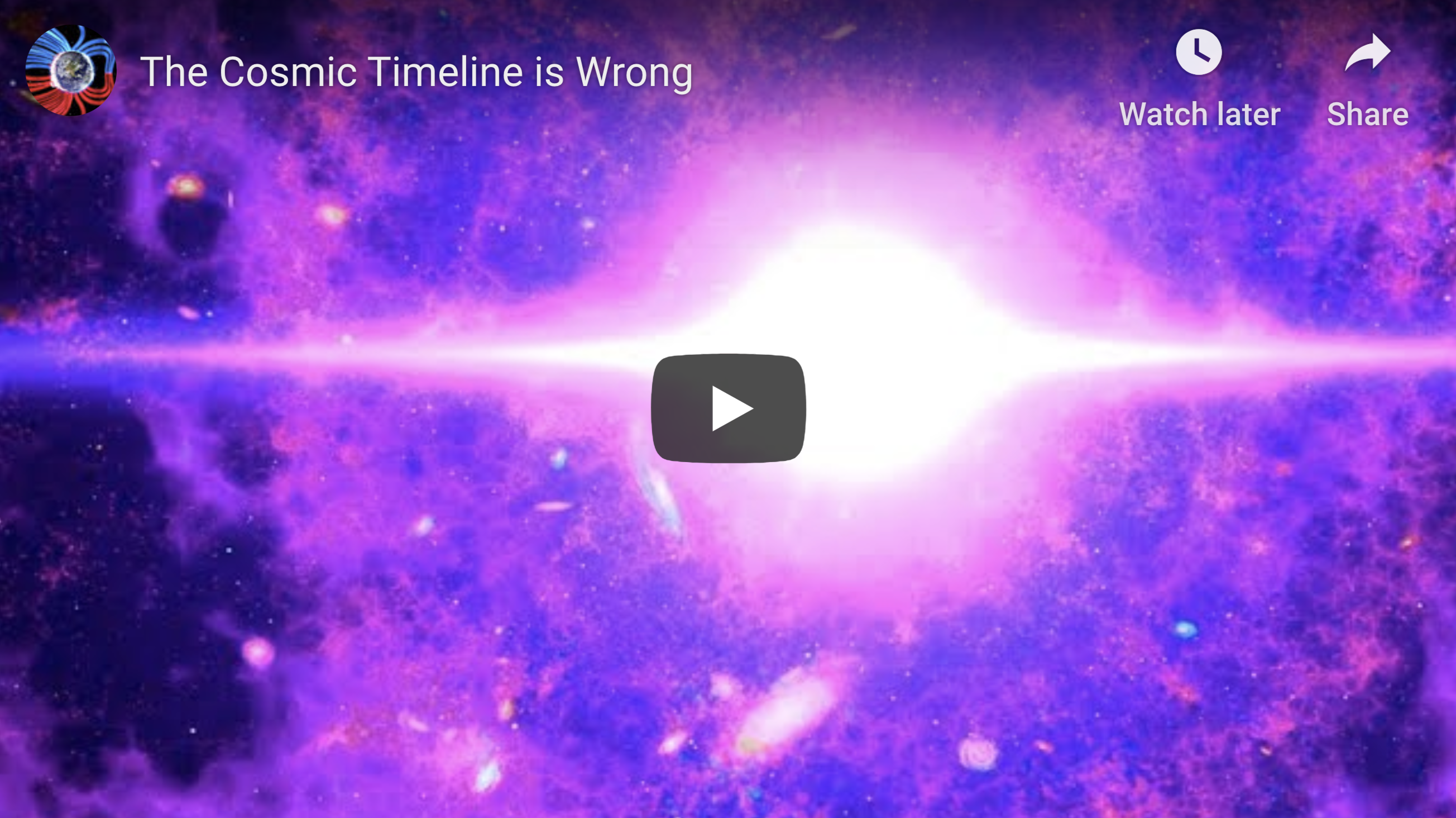 The Cosmic Timeline is Wrong 2 21 2020