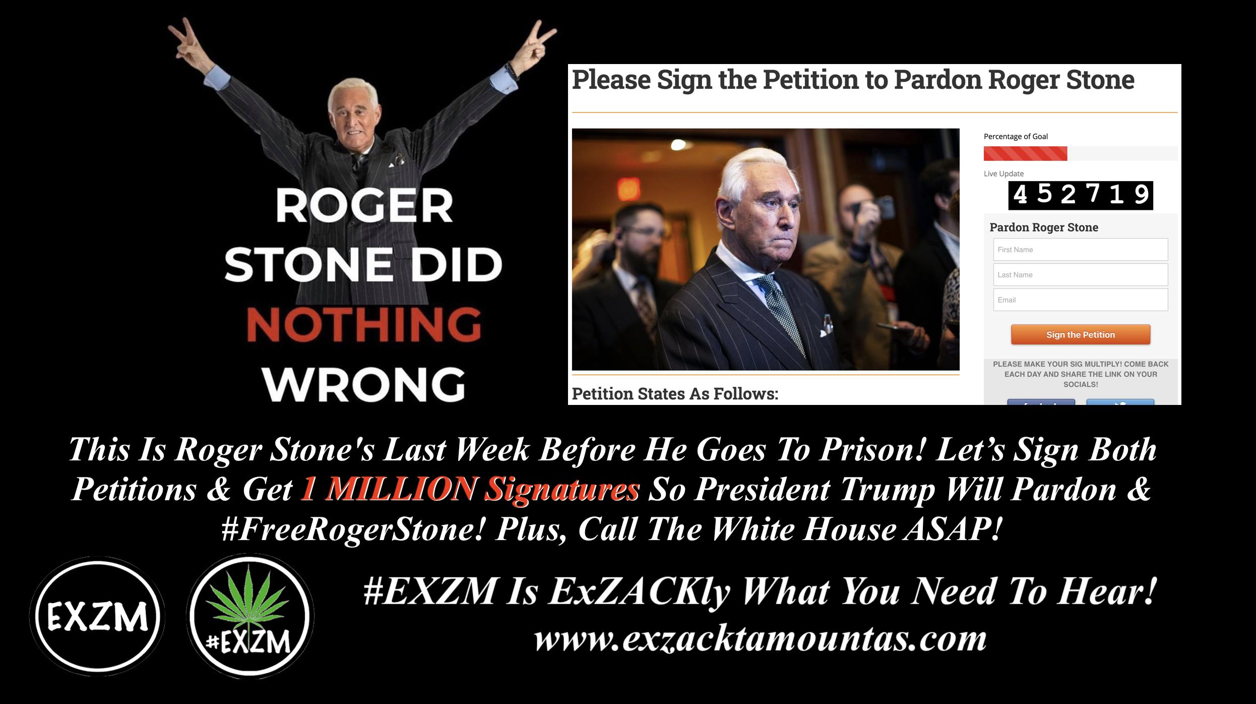 Roger Stone Last Week Before Prison 4 27 2020