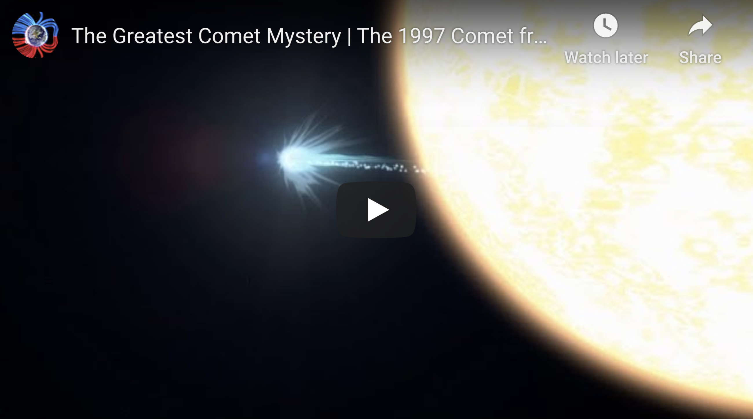 The Greatest Comet Mystery The 1997 Comet from Nowhere 4 20 2020