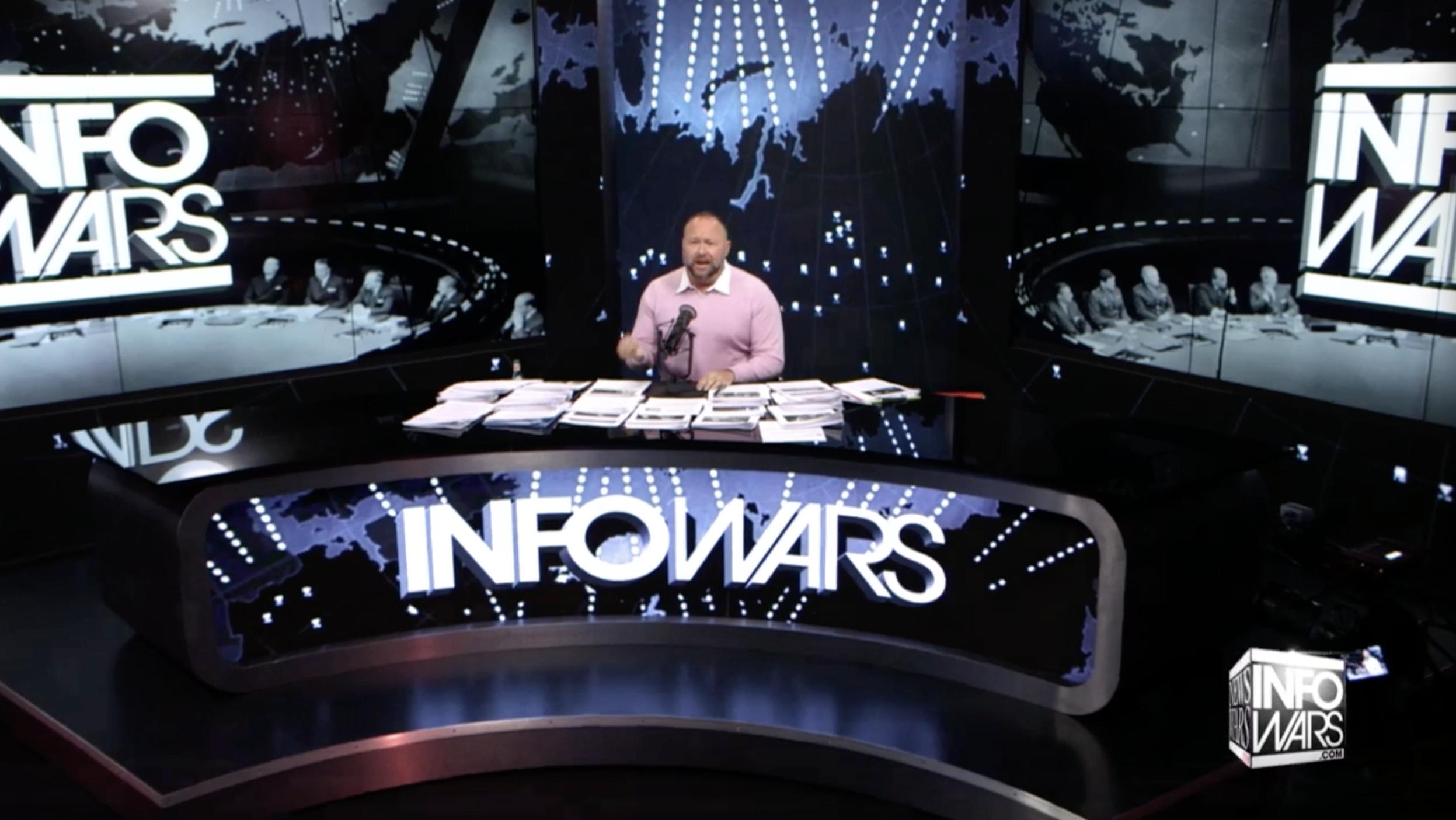 Alex Jones Infowars Pink shirt 5 11 2020