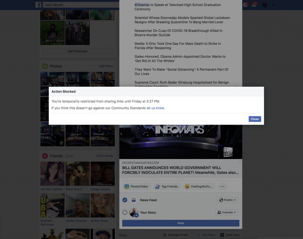 Facebook Banned Me For 3 days 5 6 2020