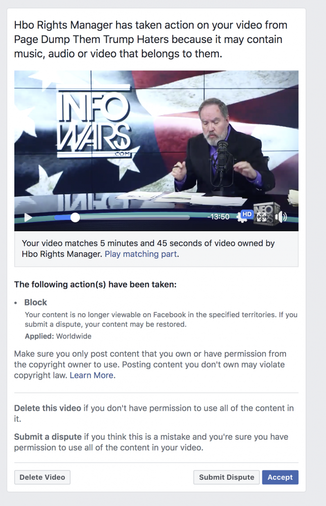 Facebook Banned Me For 3 days 5 6 2020 5