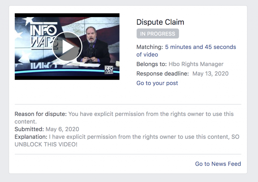 Facebook Banned Me For 3 days 5 6 2020 8