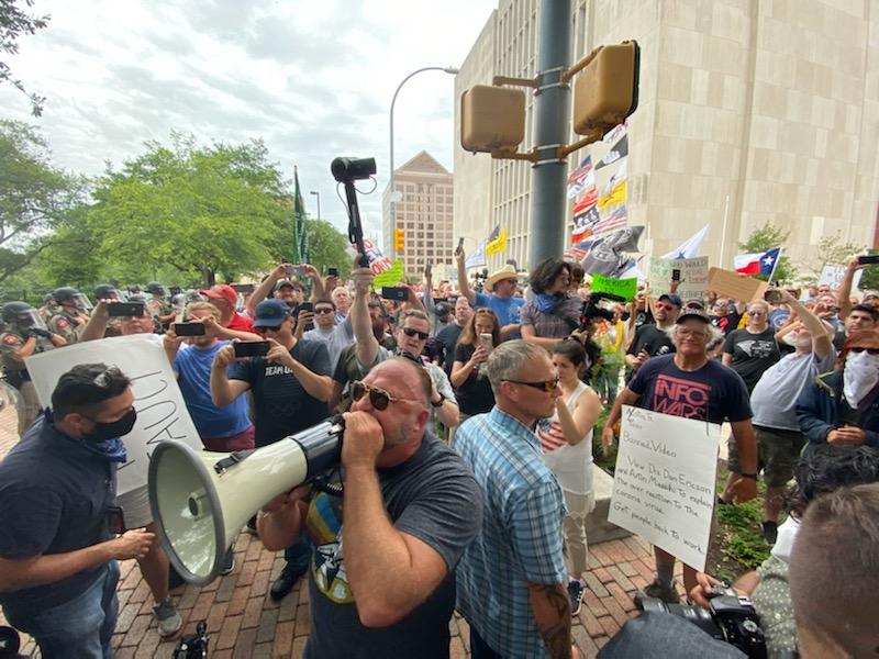 Alex Jones Infowars protesting Austin Texas June 28th 2020