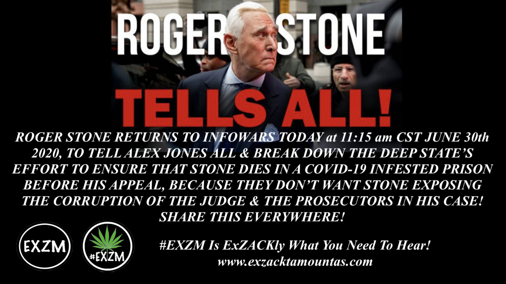 ROGER STONE TELLS ALL ALEX JONES INFOWARS June 30th 2020