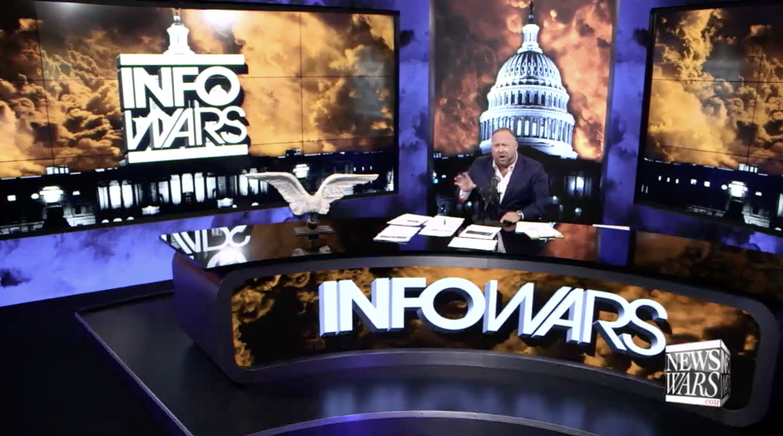 Alex Jones Infowars Studio Angel wings Black Lives Matter July 12th 2020