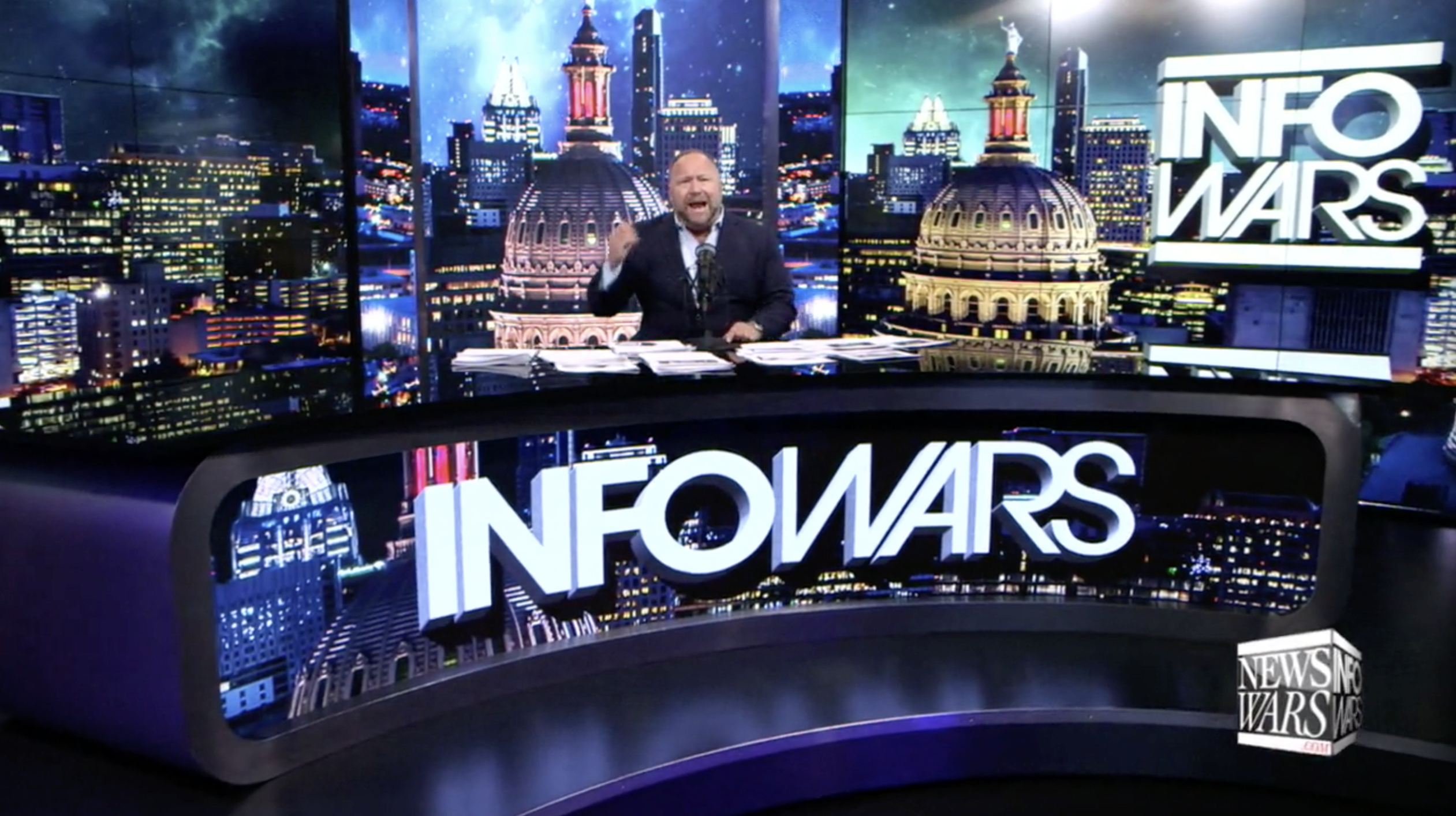 Alex Jones Infowars Studio EXZM Trump July 15th 2020