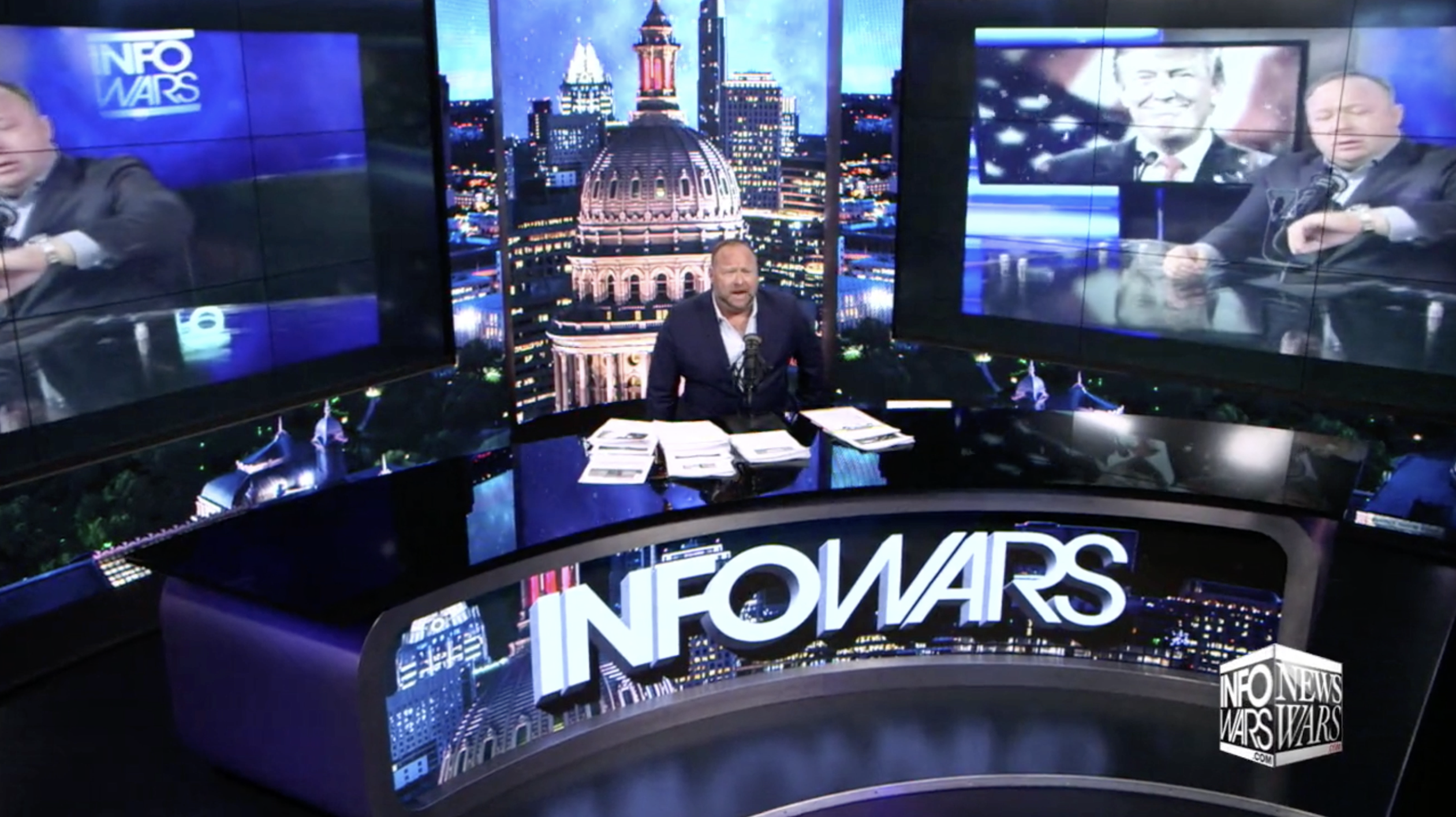 Alex Jones Infowars Studio President Trump EXZM July 29th 2020