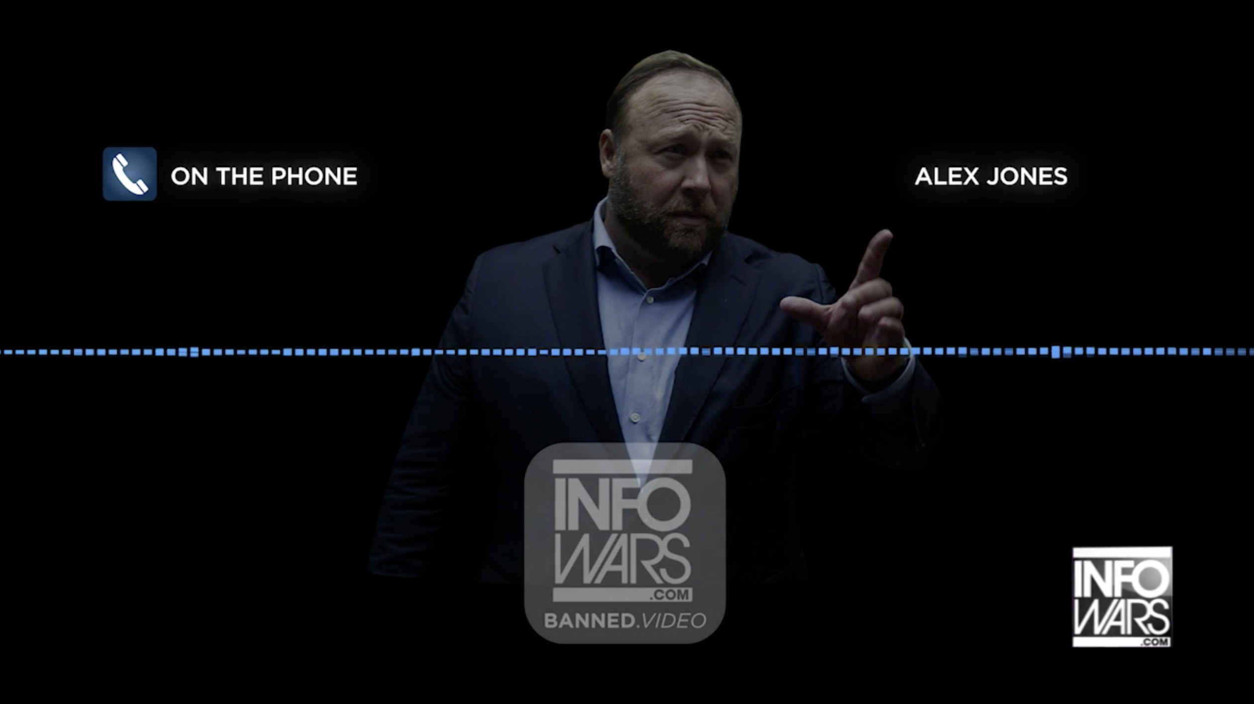 Alex Jones On The Phones Infowars Banned Dot Video EXZM July 21st 2020