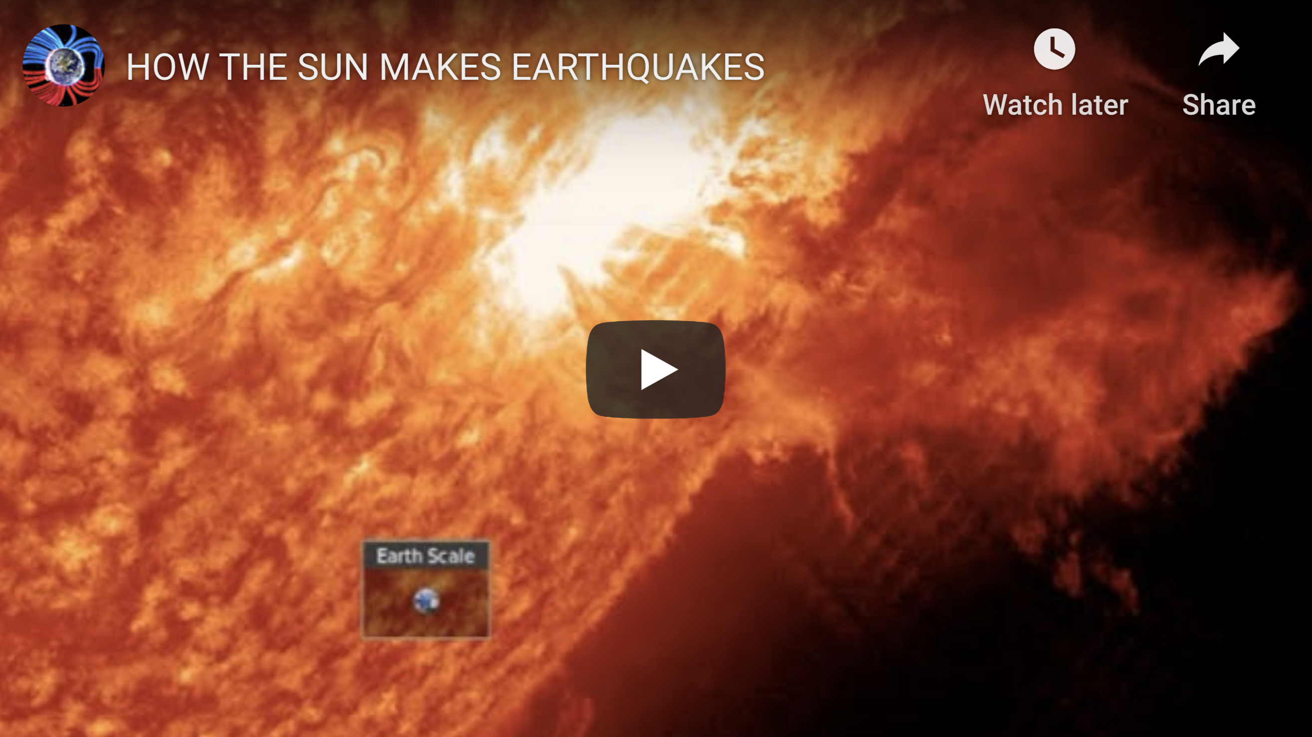 HOW THE SUN MAKES EARTHQUAKES EXZM Suspicious Observers post July 27th 2020