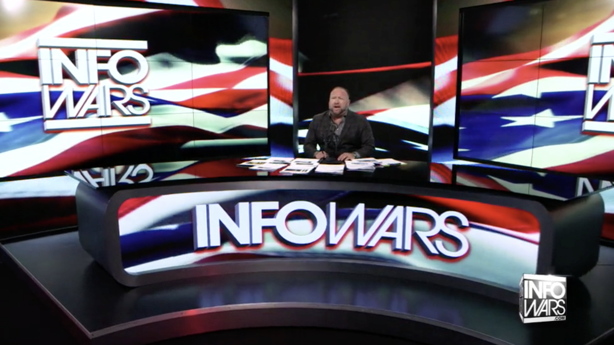 Alex Jones Infowars Studio American Flag EXZM August 24th 2020