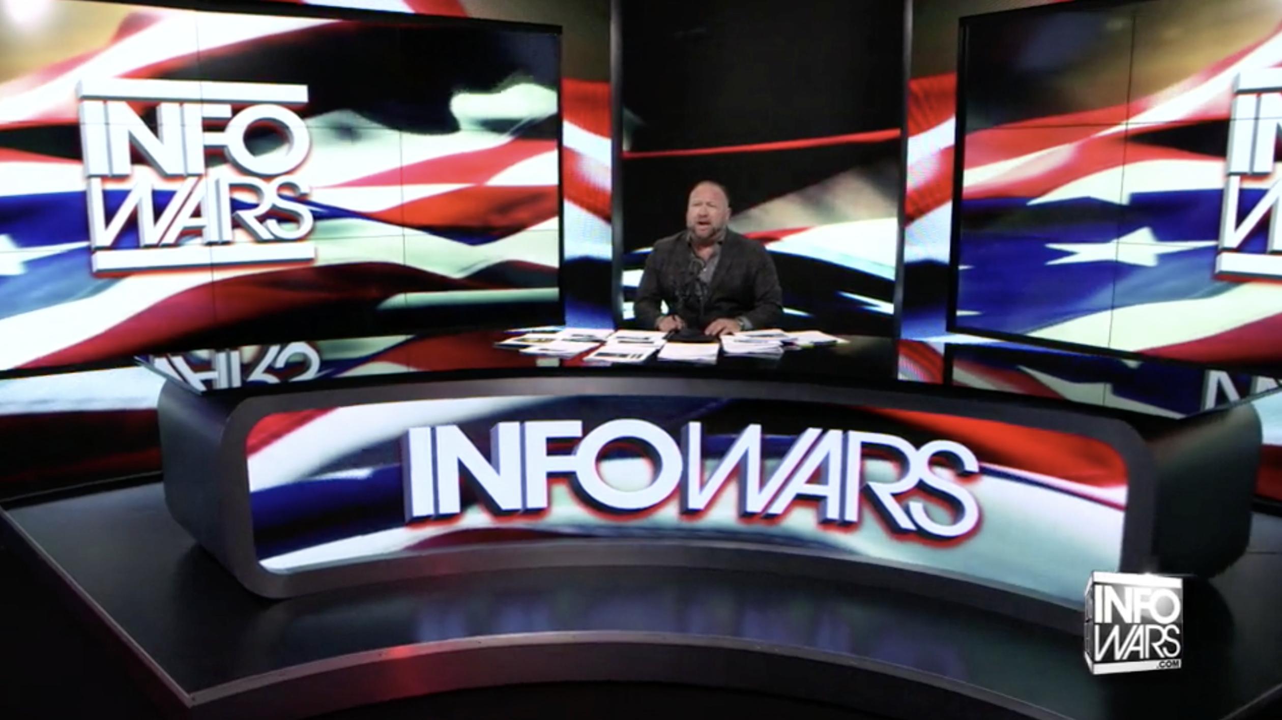 Alex Jones Infowars Studio American Flag EXZM August 24th 2020
