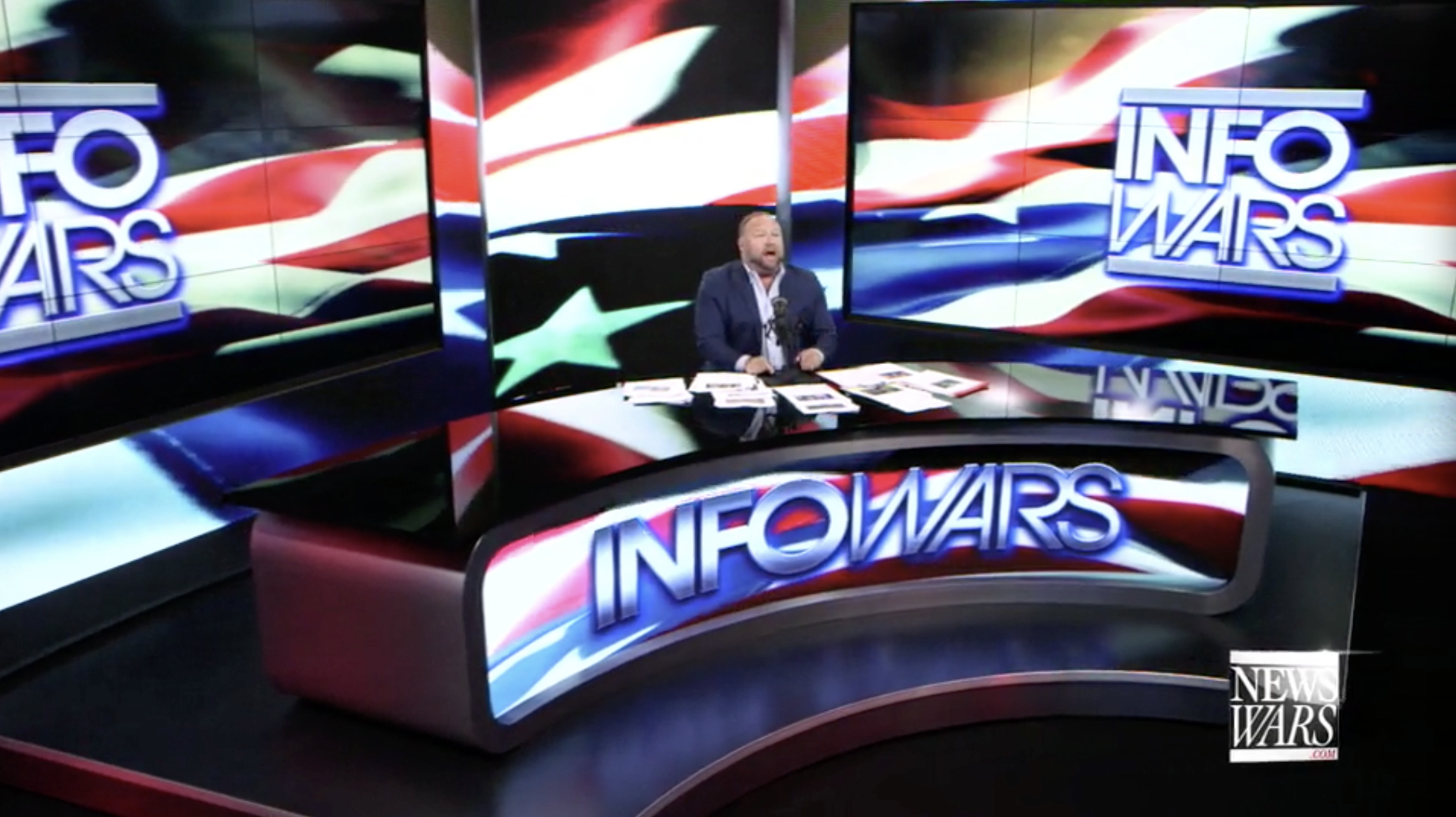 Alex Jones Infowars Studio American Flag EXZM August 28th 2020