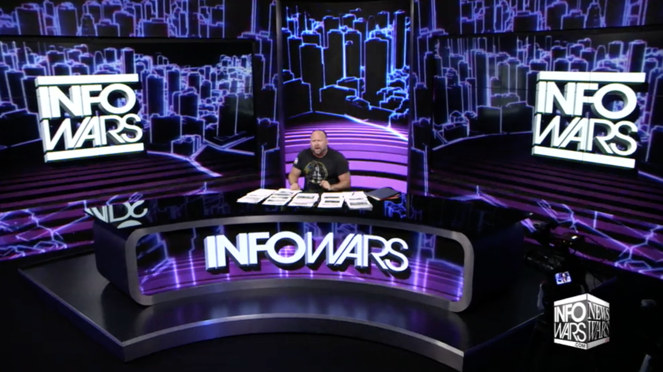 Alex Jones Infowars Studio EXZM August 10th 2020