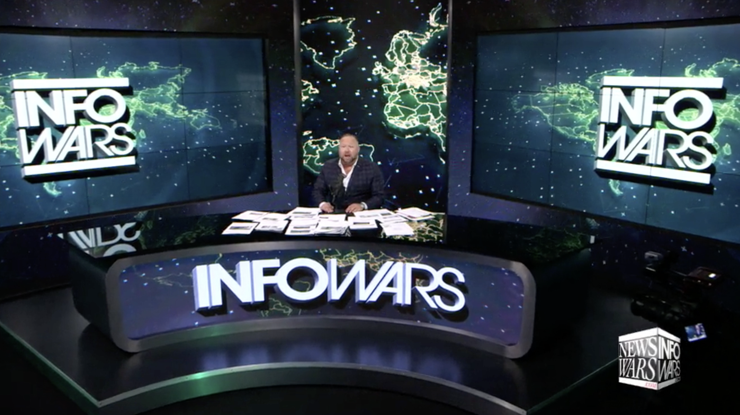 Alex Jones Infowars Studio EXZM August 14th 2020
