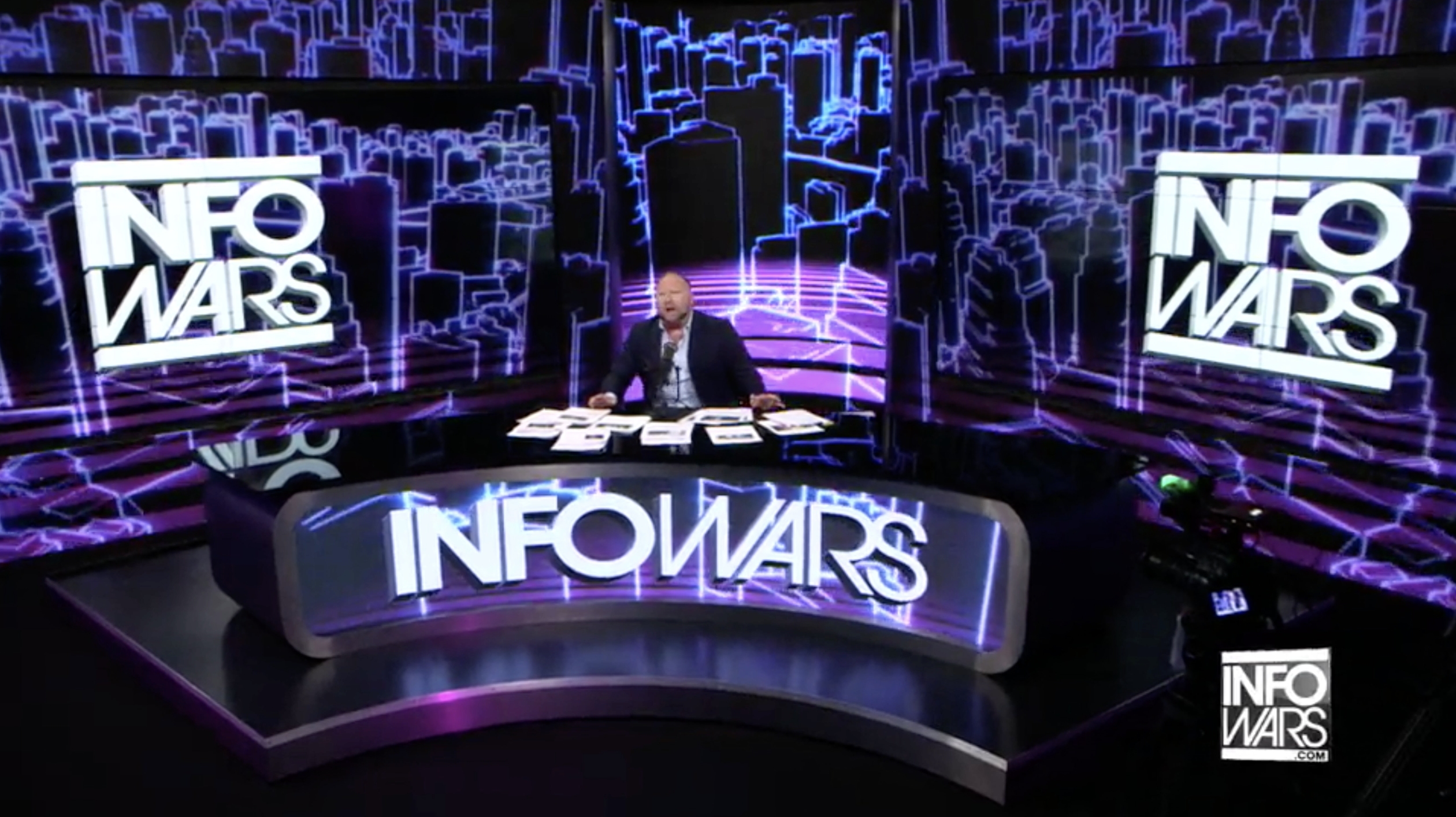 Alex Jones Infowars Studio EXZM August 17th 2020