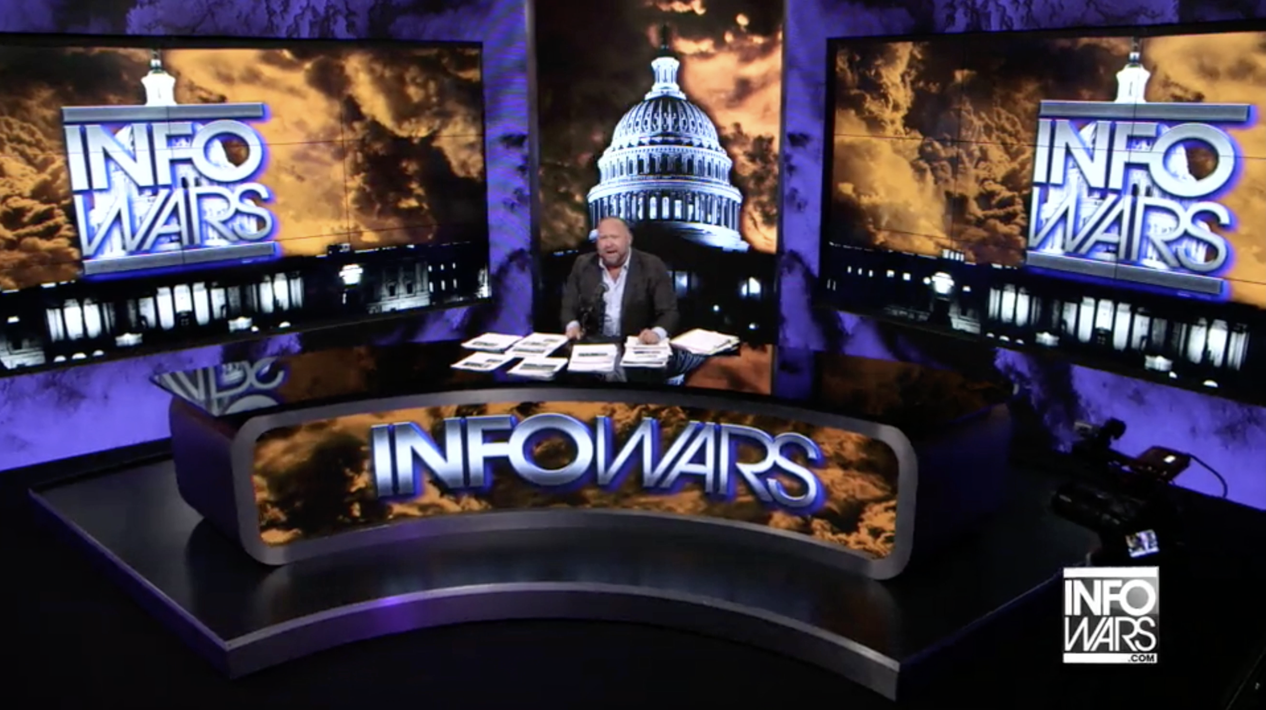 Alex Jones Infowars Studio EXZM August 25th 2020