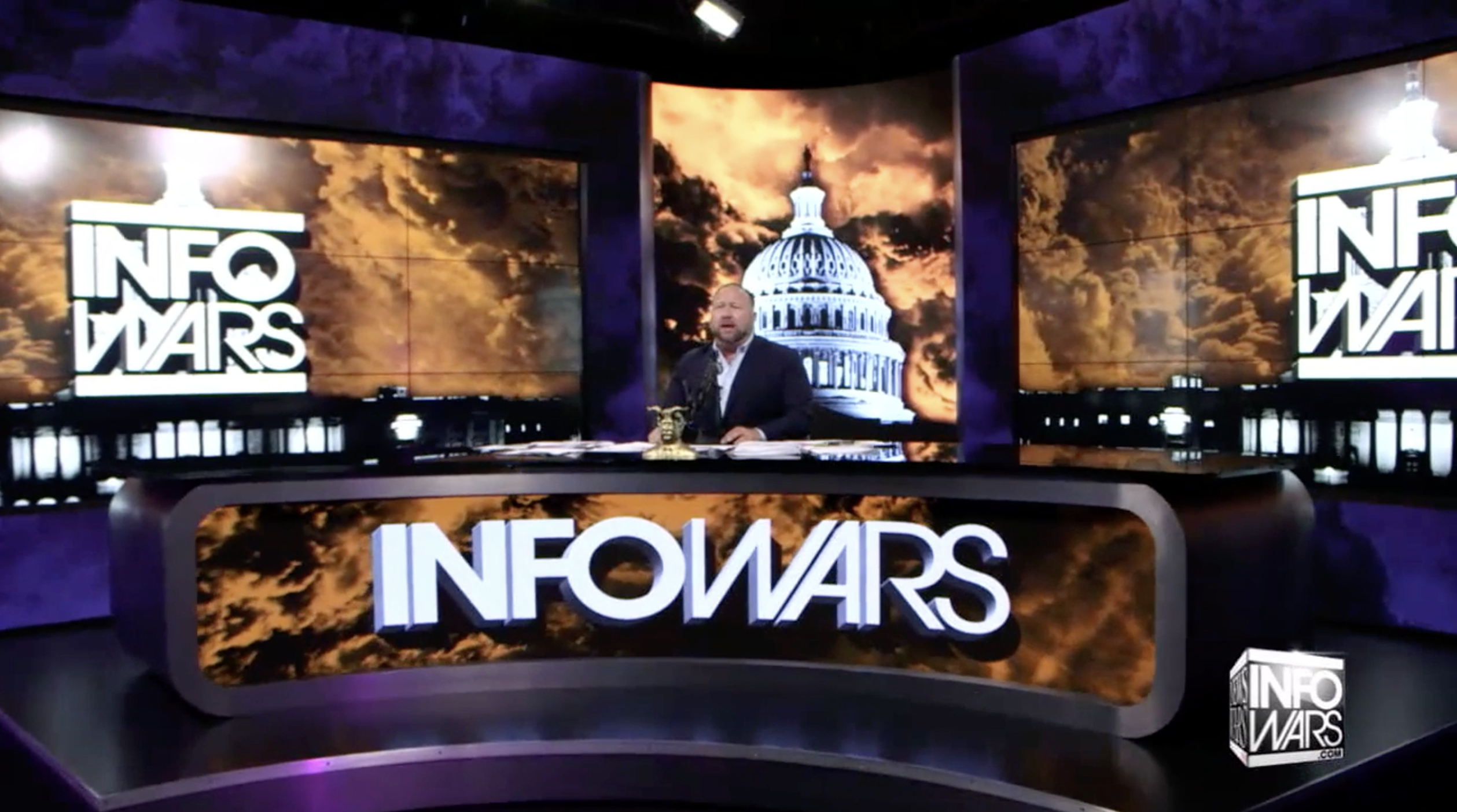 Alex Jones Infowars Studio EXZM August 9th 2020
