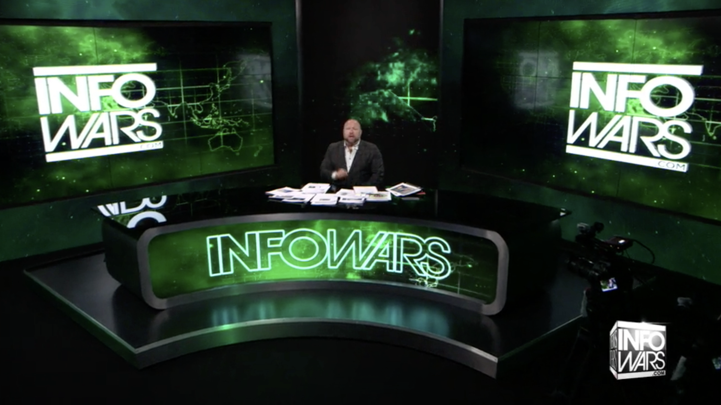 Alex Jones Infowars Studio Green Radar EXZM August 5th 2020