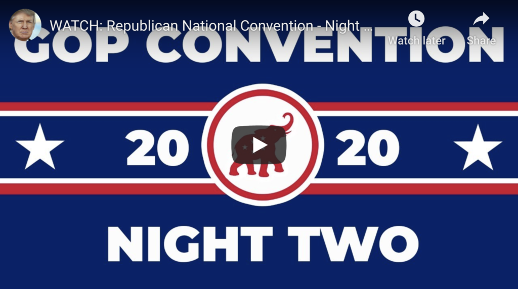 EXZM President Donald Trump RNC Republican National Convention Night 2 August 25th 2020