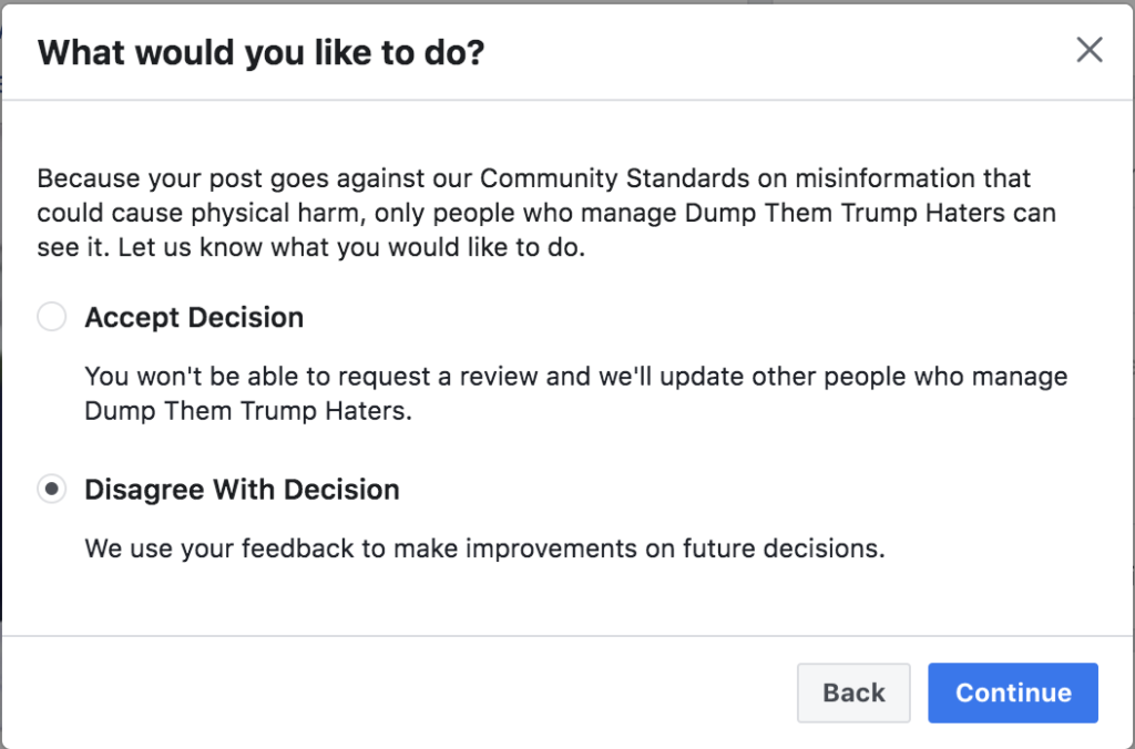 Facebook banned me for 3 days July 29th 2020 3
