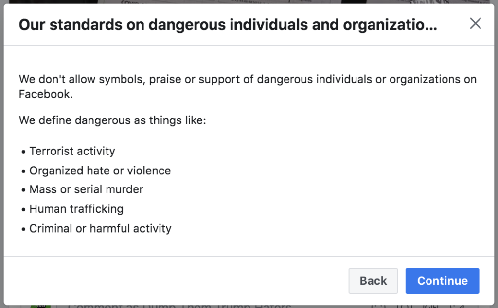 Facebook banned me for 7 days August 2nd 2020 2