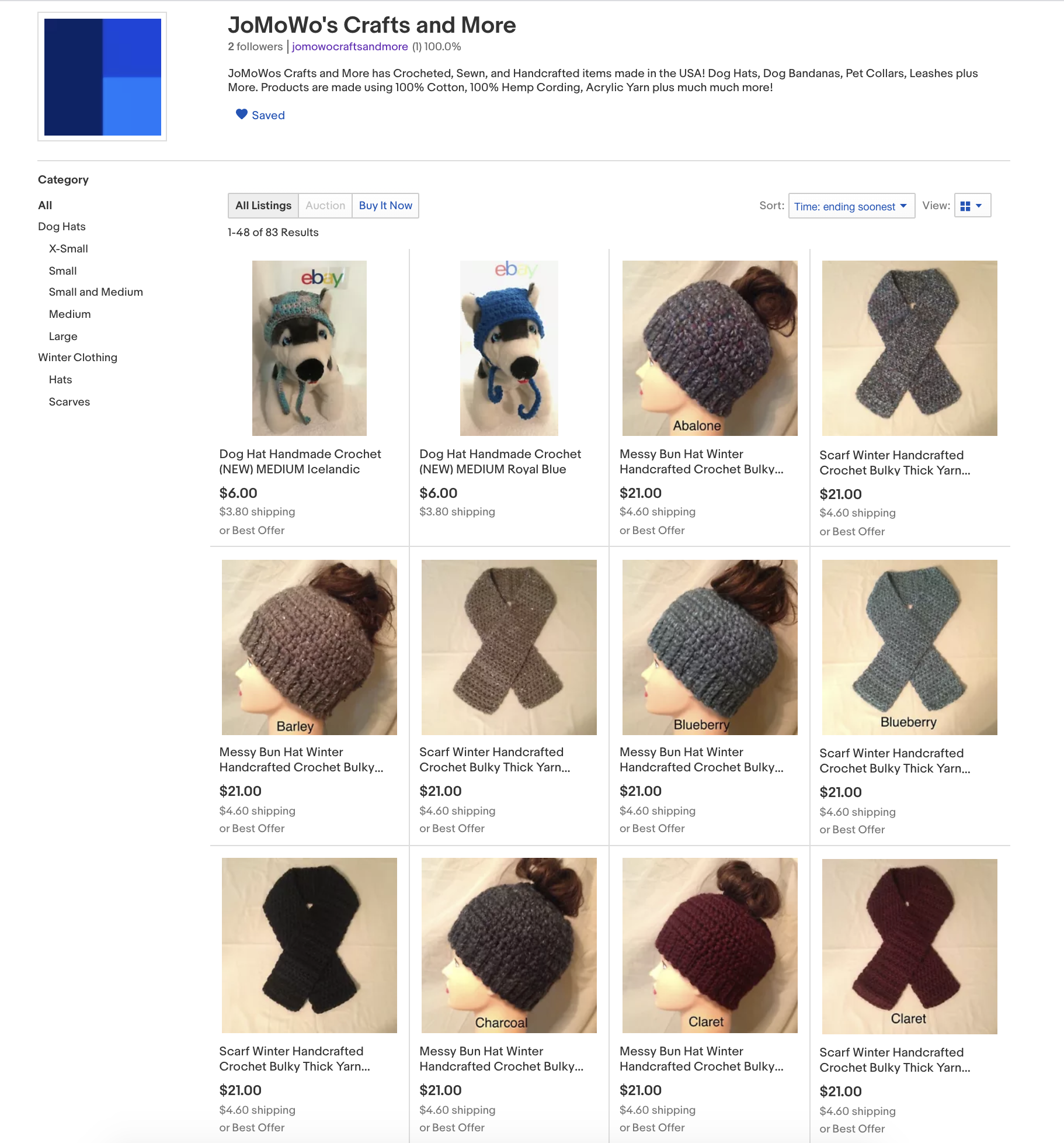 JoMoWos Crafts and More Ebay Store August 15th 2020 1