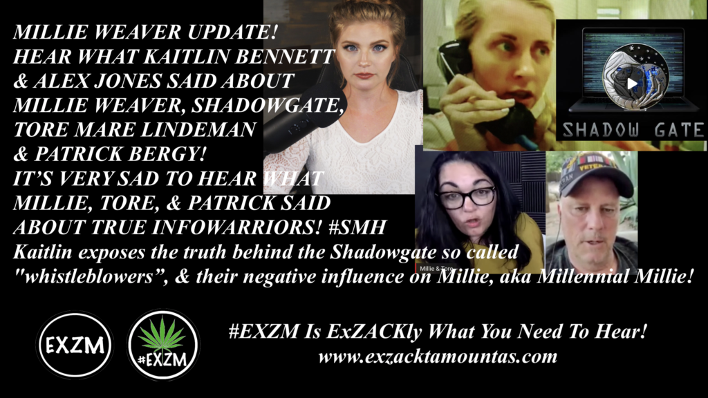 Kaitlin Bennett Alex Jones EXZM MILLIE WEAVER SHADOWGATE TORE MARE LINDEMAN PATRICK BERGY August 22nd 2020