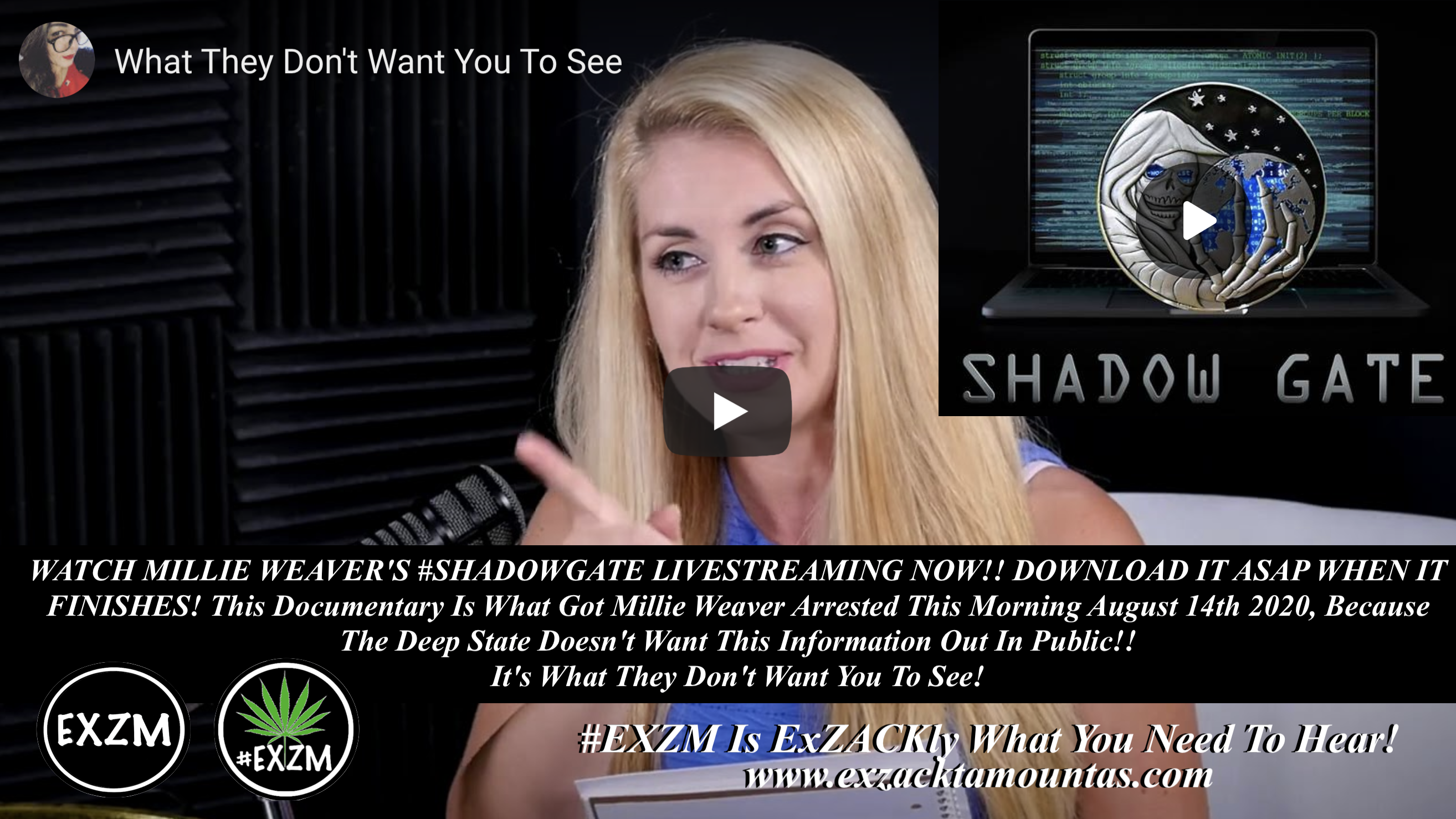 Millie Weaver ShadowGate Shadow Gate Deep State Tore Says Infowars EXZM August 14th 2020