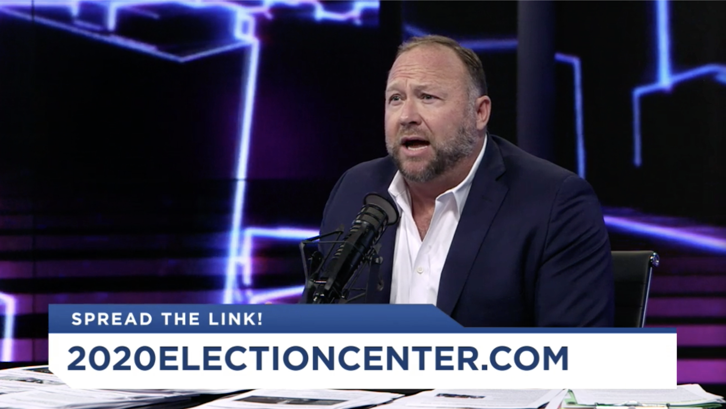 Alex Jones Infowars Studio 2020 Election Center EXZM September 10th 2020