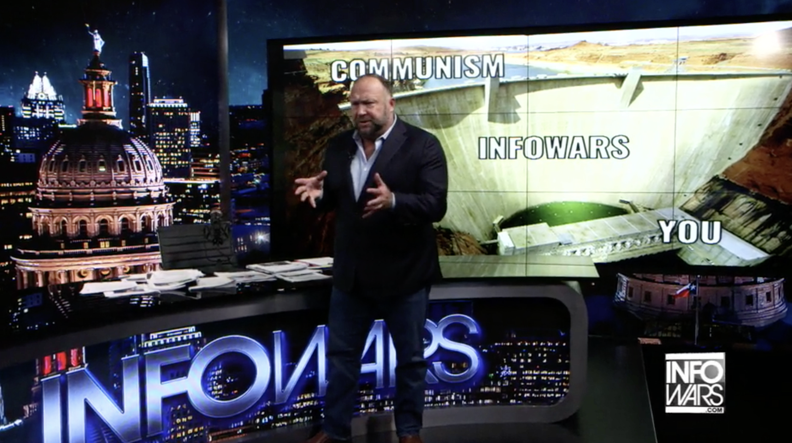 Alex Jones Infowars Studio Communism EXZM September 3rd 2020