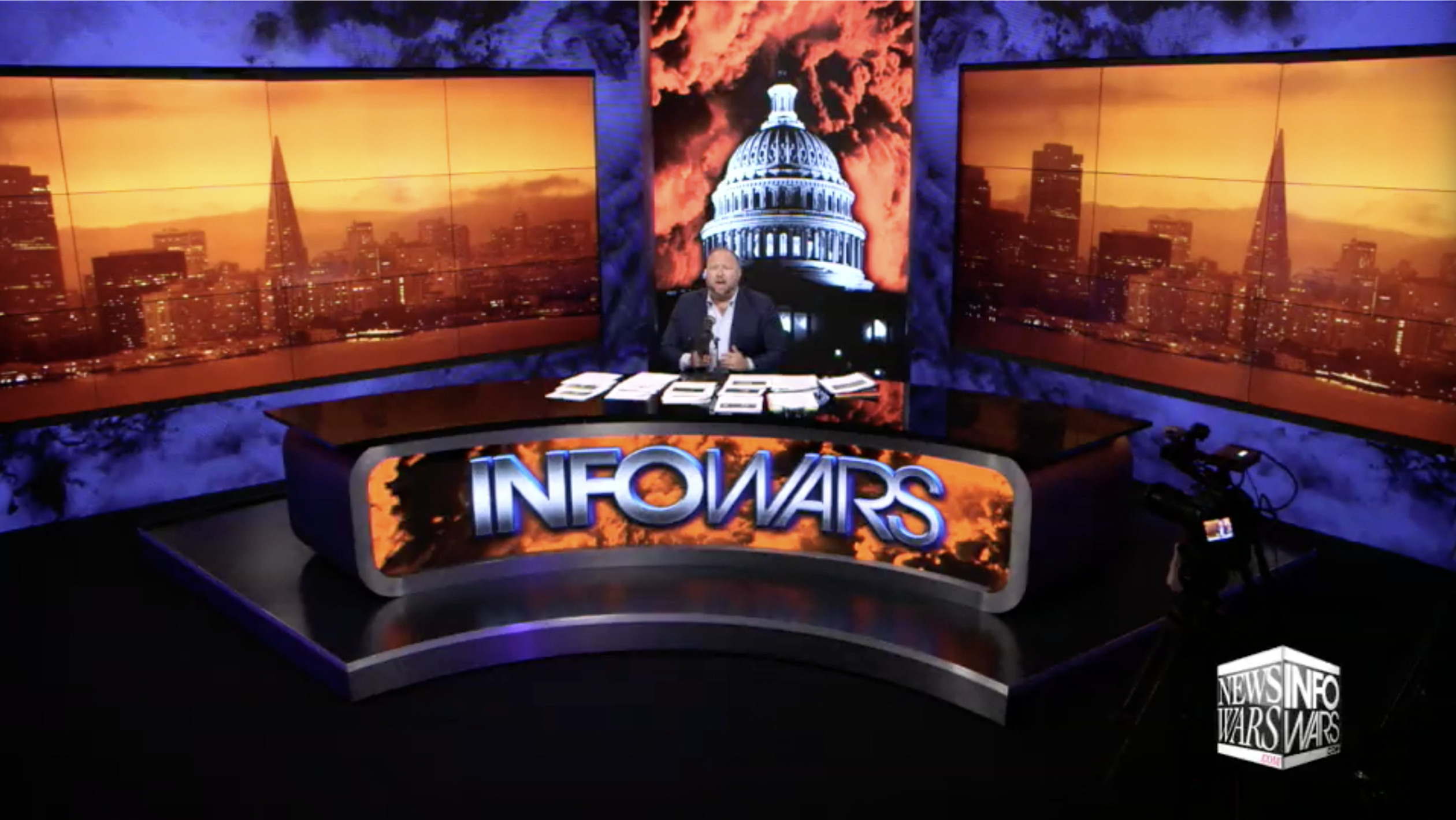 Alex Jones Infowars Studio San Francisco California On Fire EXZM September 14th 2020